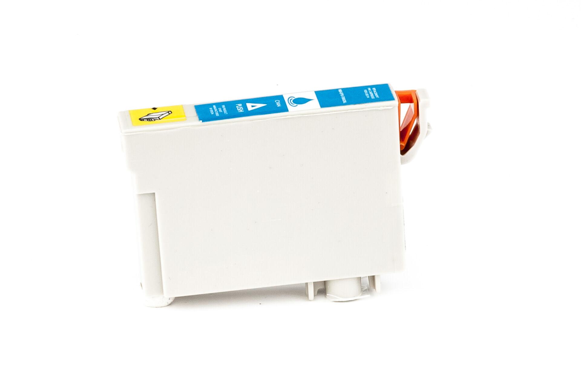 Epson Cartouche d'encre pour Epson C13T08024011 / T0802 cyan compatible (de marque ASC)