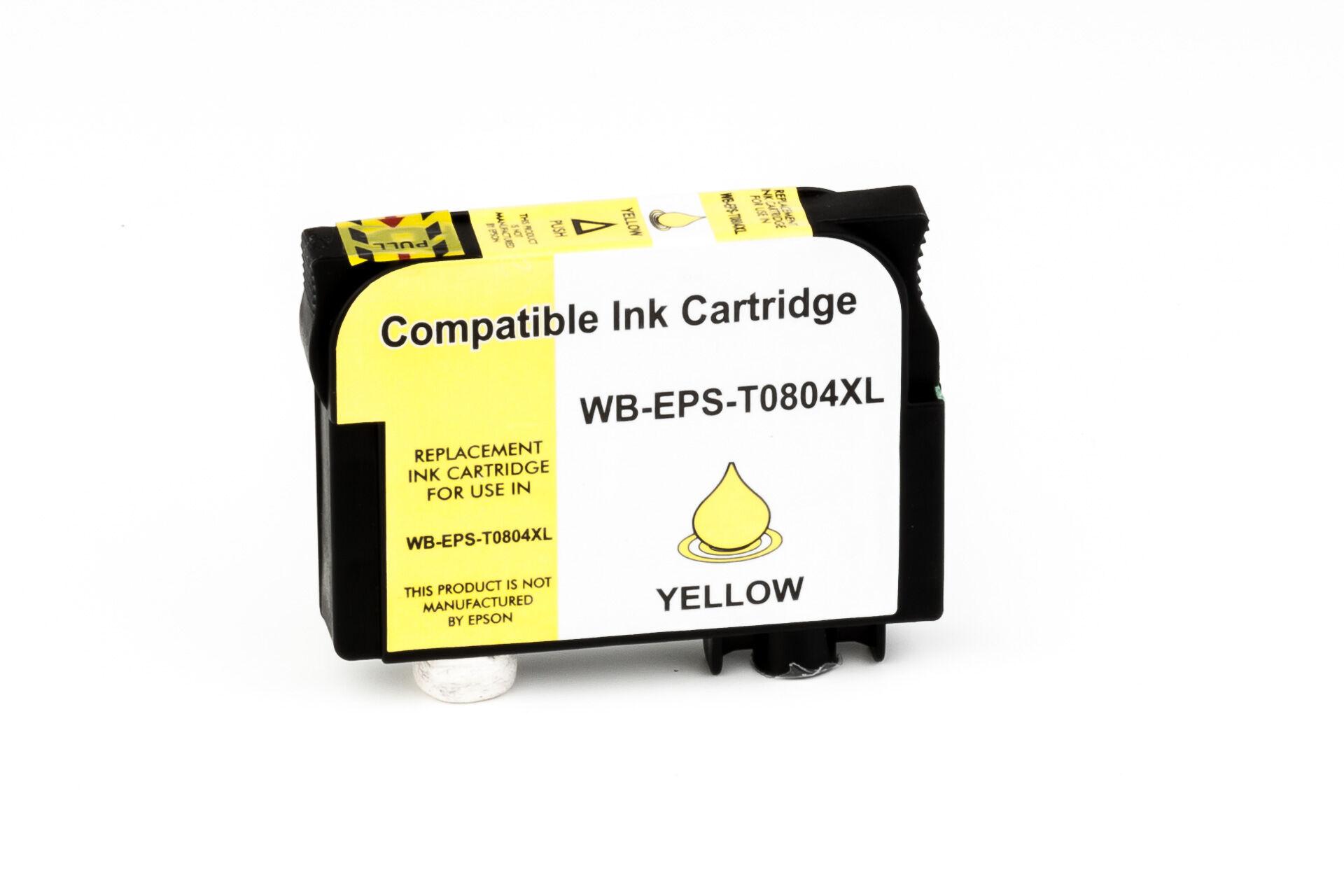 Epson Cartouche d'encre pour Epson C13T08044011 / T0804 jaune compatible (de marque ASC)
