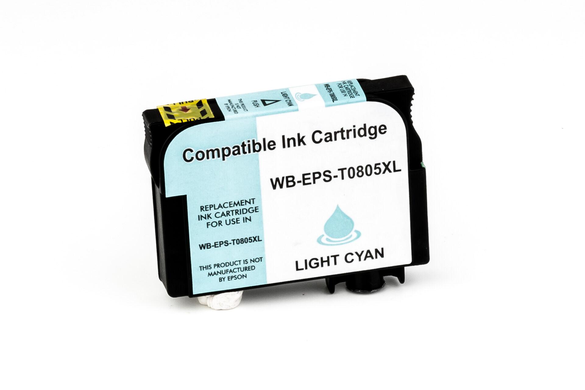 Epson Cartouche d'encre pour Epson C13T08054011 / T0805 cyan-photo compatible (de marque ASC)