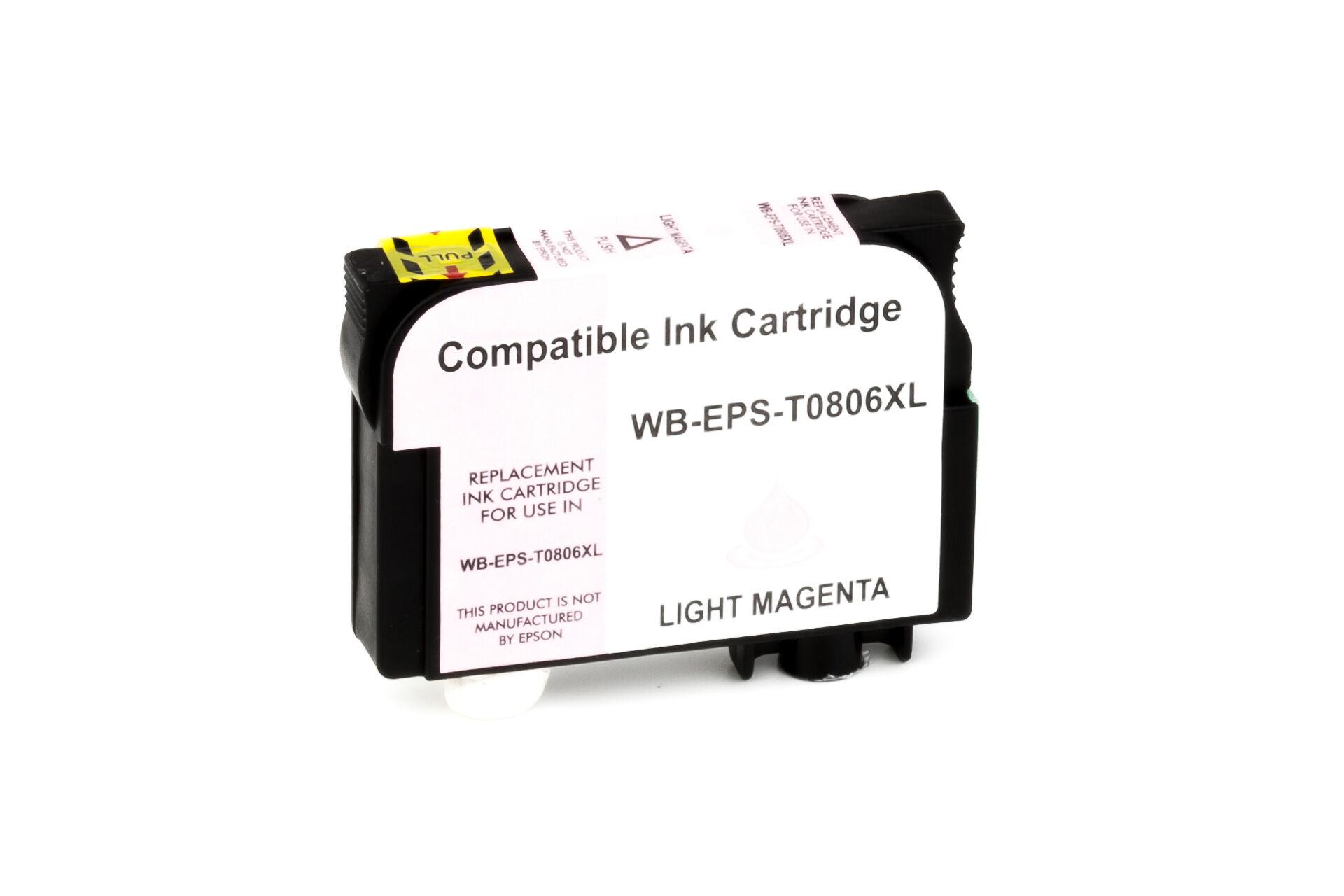 Epson Cartouche d'encre pour Epson C13T08064011 / T0806 Magenta-photo compatible (de marque ASC)