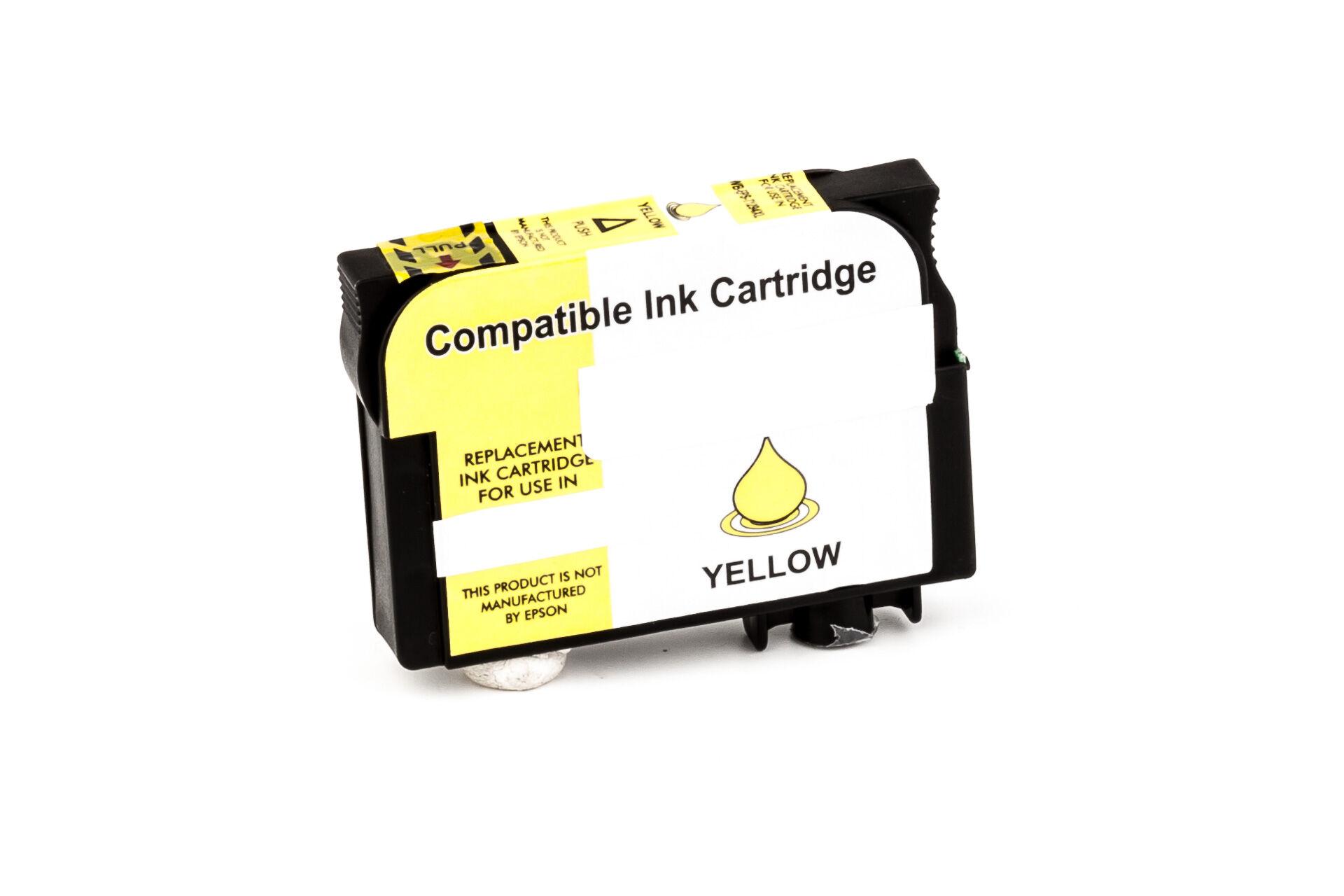 Epson Cartouche d'encre pour Epson C13T12944010 / T1294 jaune compatible (de marque ASC)