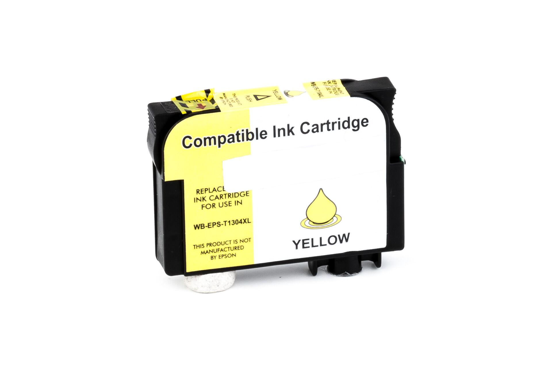 Epson Cartouche d'encre pour Epson C13T13044010 / T1304 jaune compatible (de marque ASC)