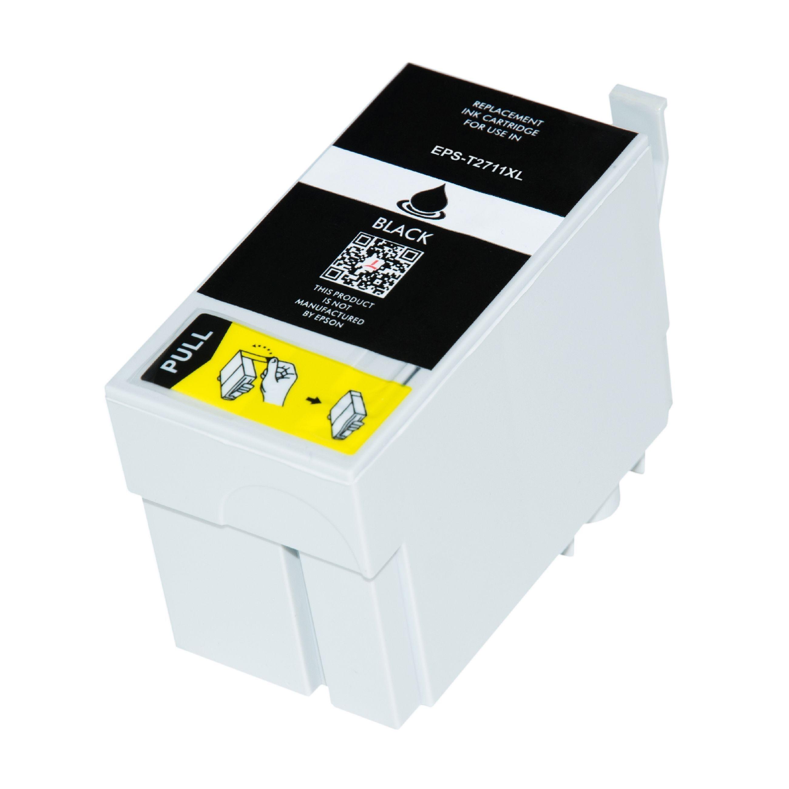 Epson Cartouche d'encre pour Epson C13T27114010 / 27XL noir compatible (de marque ASC)