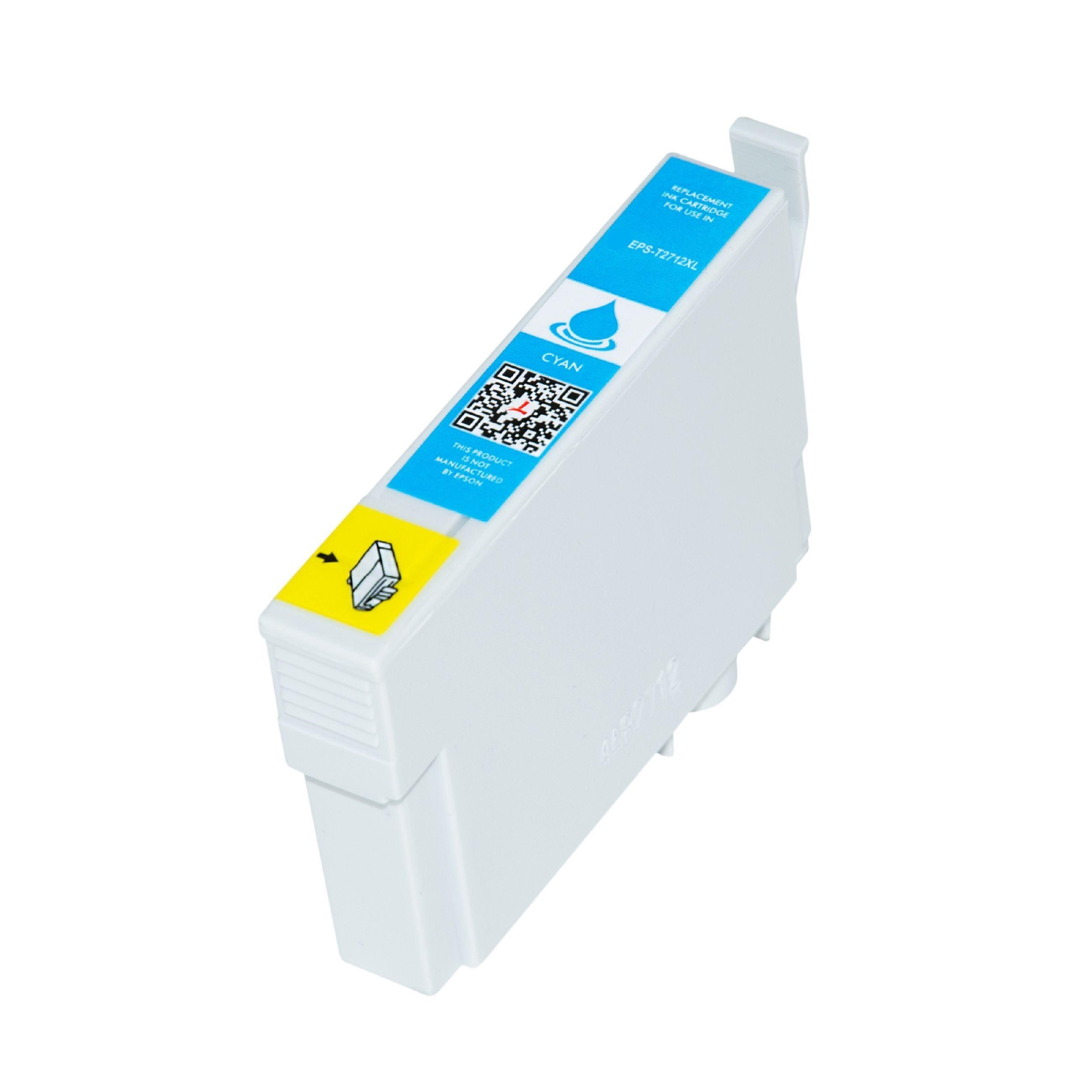 Epson Cartouche d'encre pour Epson C13T27124010 / 27XL cyan compatible (de marque ASC)