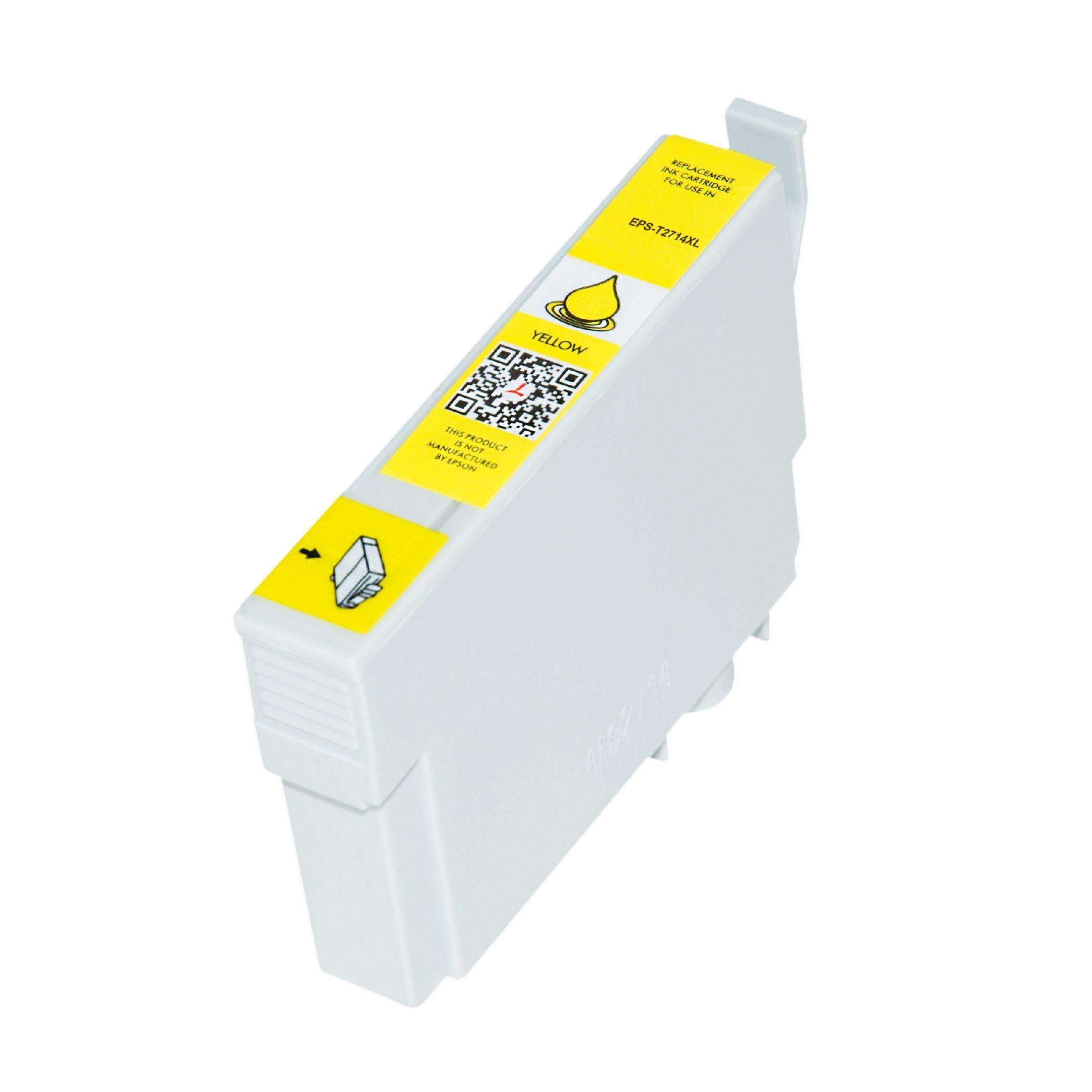Epson Cartouche d'encre pour Epson C13T27144010 / 27XL jaune compatible (de marque ASC)