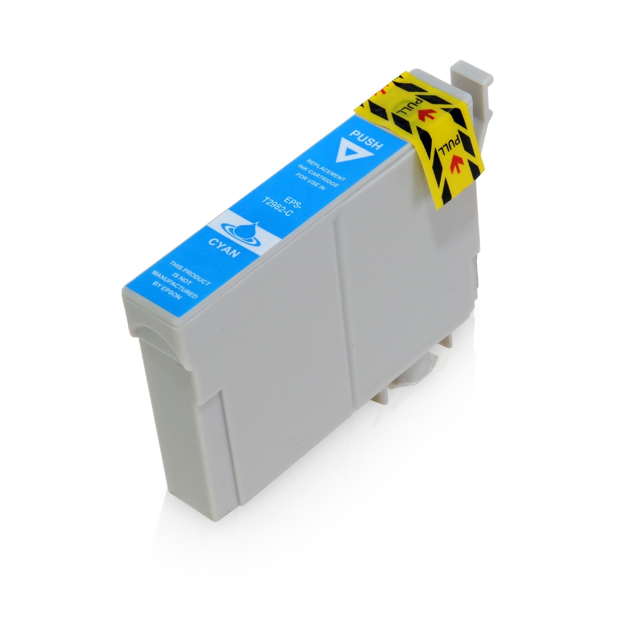 Epson Cartouche d'encre pour Epson C13T29824010 / 29 cyan compatible (de marque ASC)