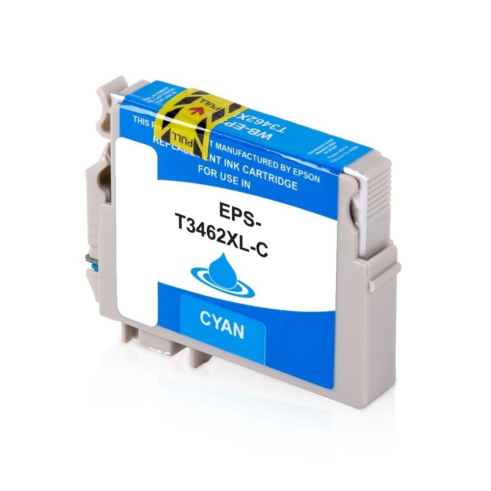 Epson Cartouche d'encre pour Epson C13T34624010 / 34 cyan compatible (de marque ASC)