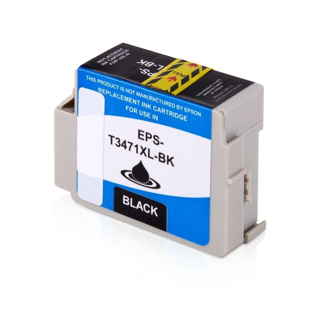 Epson Cartouche d'encre pour Epson C13T34714010 / 34XL noir compatible (de marque ASC)