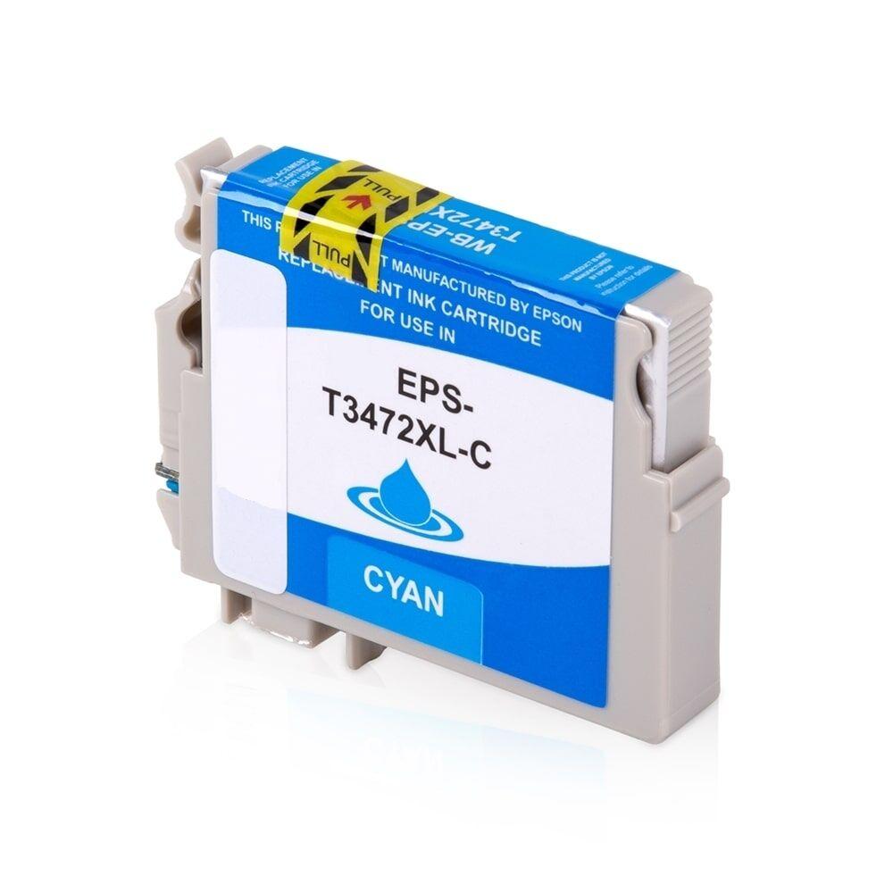 Epson Cartouche d'encre pour Epson C13T34724010 / 34XL cyan compatible (de marque ASC)
