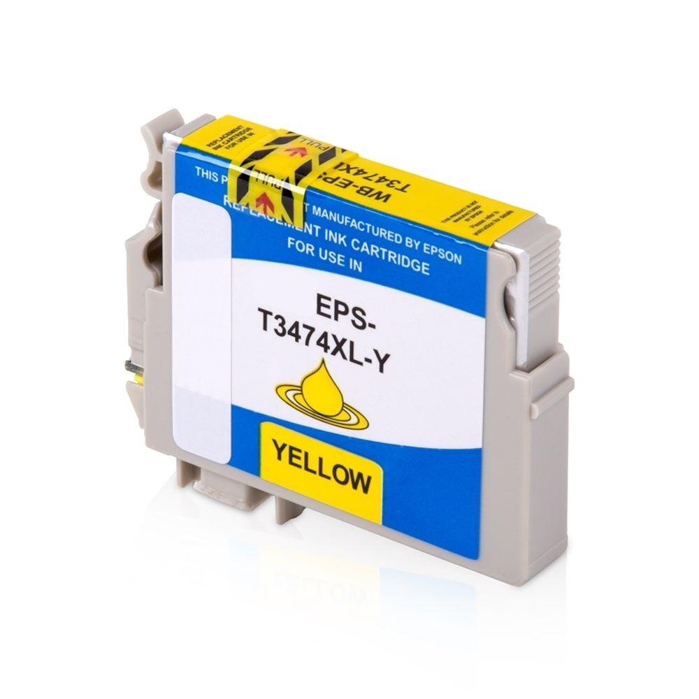 Epson Cartouche d'encre pour Epson C13T34744010 / 34XL jaune compatible (de marque ASC)