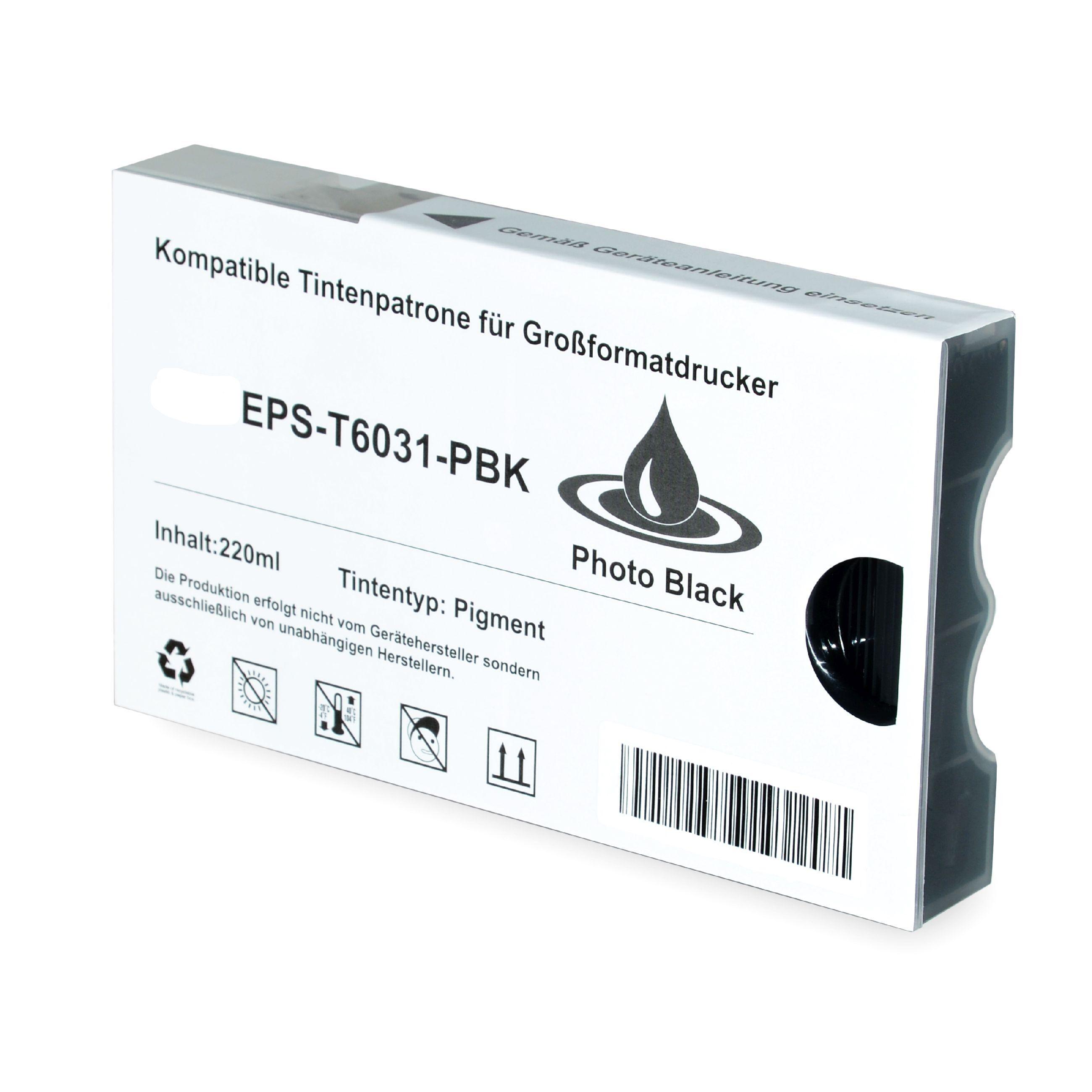 Epson Cartouche d'encre pour Epson C13T603100 / T6031 photonoir compatible (de marque ASC)