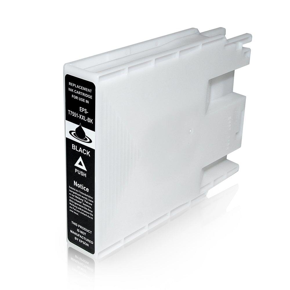 Epson Cartouche d'encre pour Epson C13T755140 / T7551 noir compatible (de marque ASC)