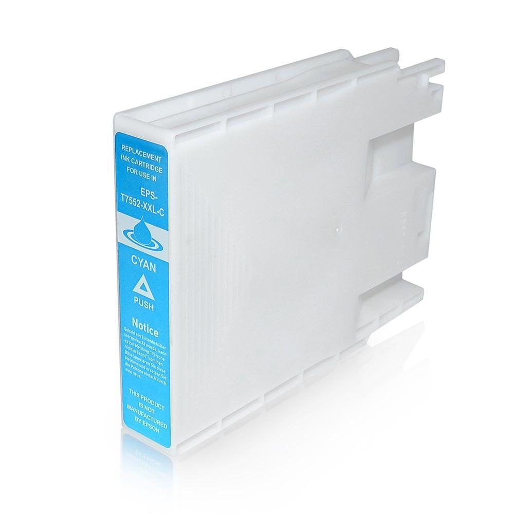 EPSON Cartouche d'encre pour EPSON C13T755240 / T7552 cyan compatible (de marque ASC)