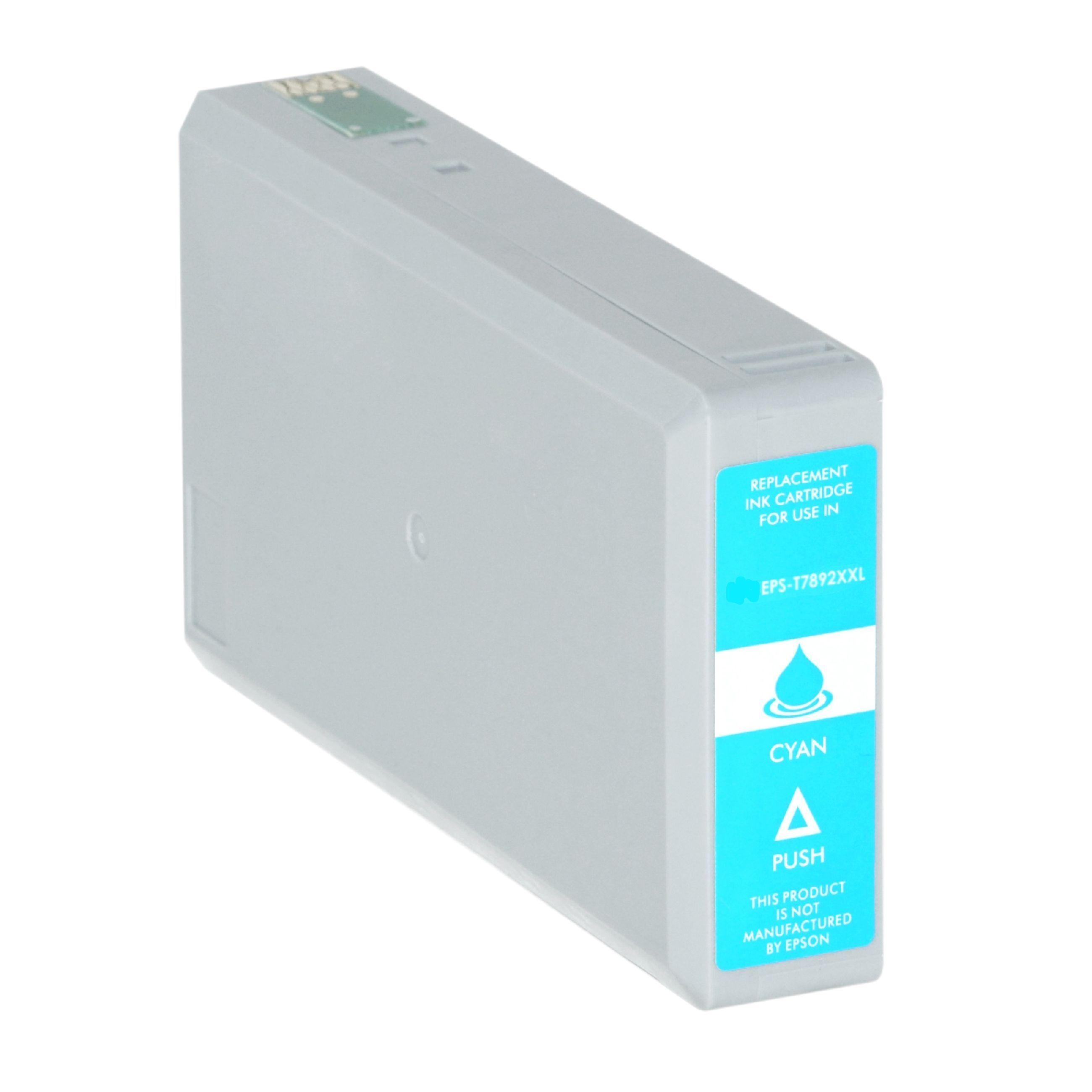 Epson Cartouche d'encre pour Epson C13T789240 / T7892 cyan compatible (de marque ASC)