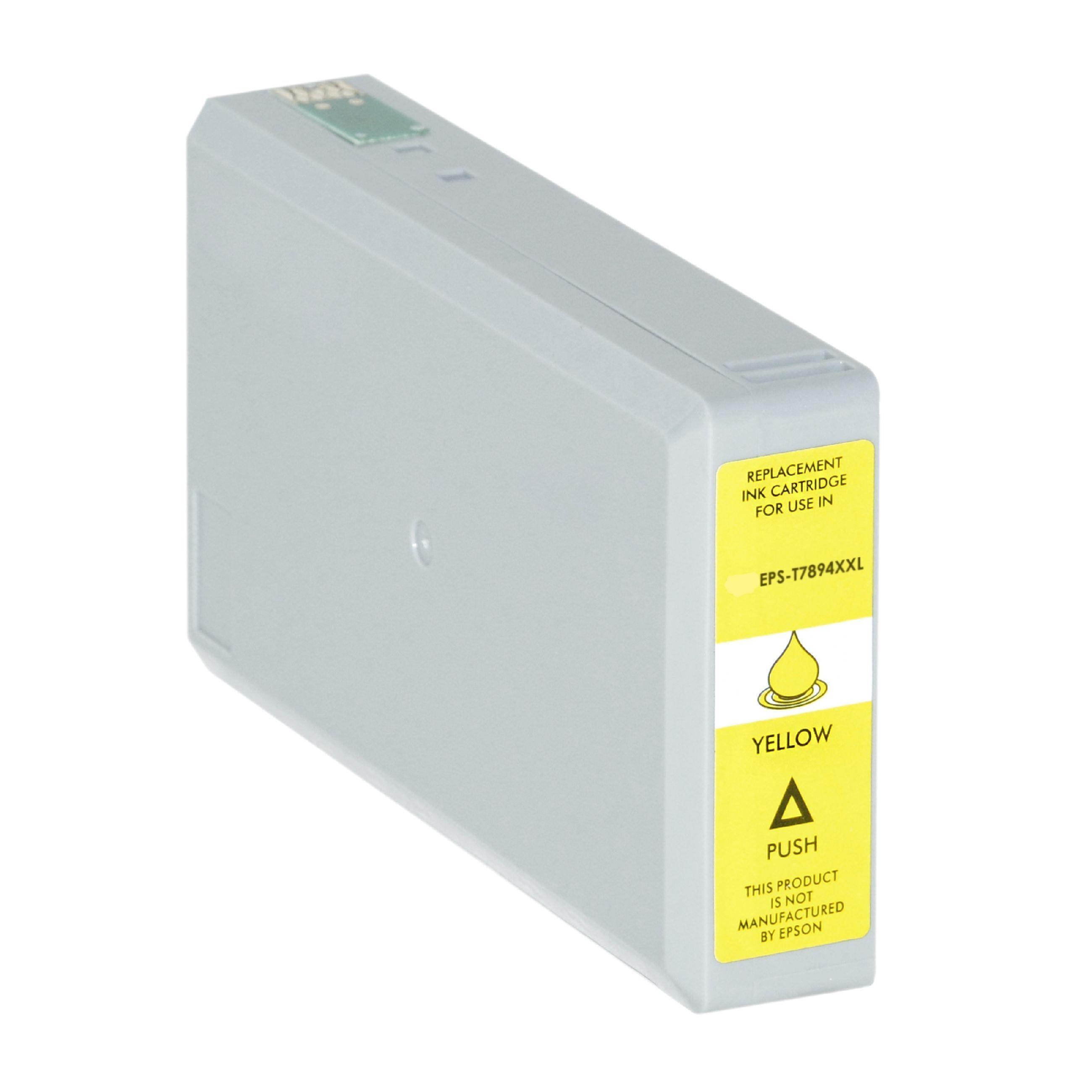 Epson Cartouche d'encre pour Epson C13T789440 / T7894 jaune compatible (de marque ASC)