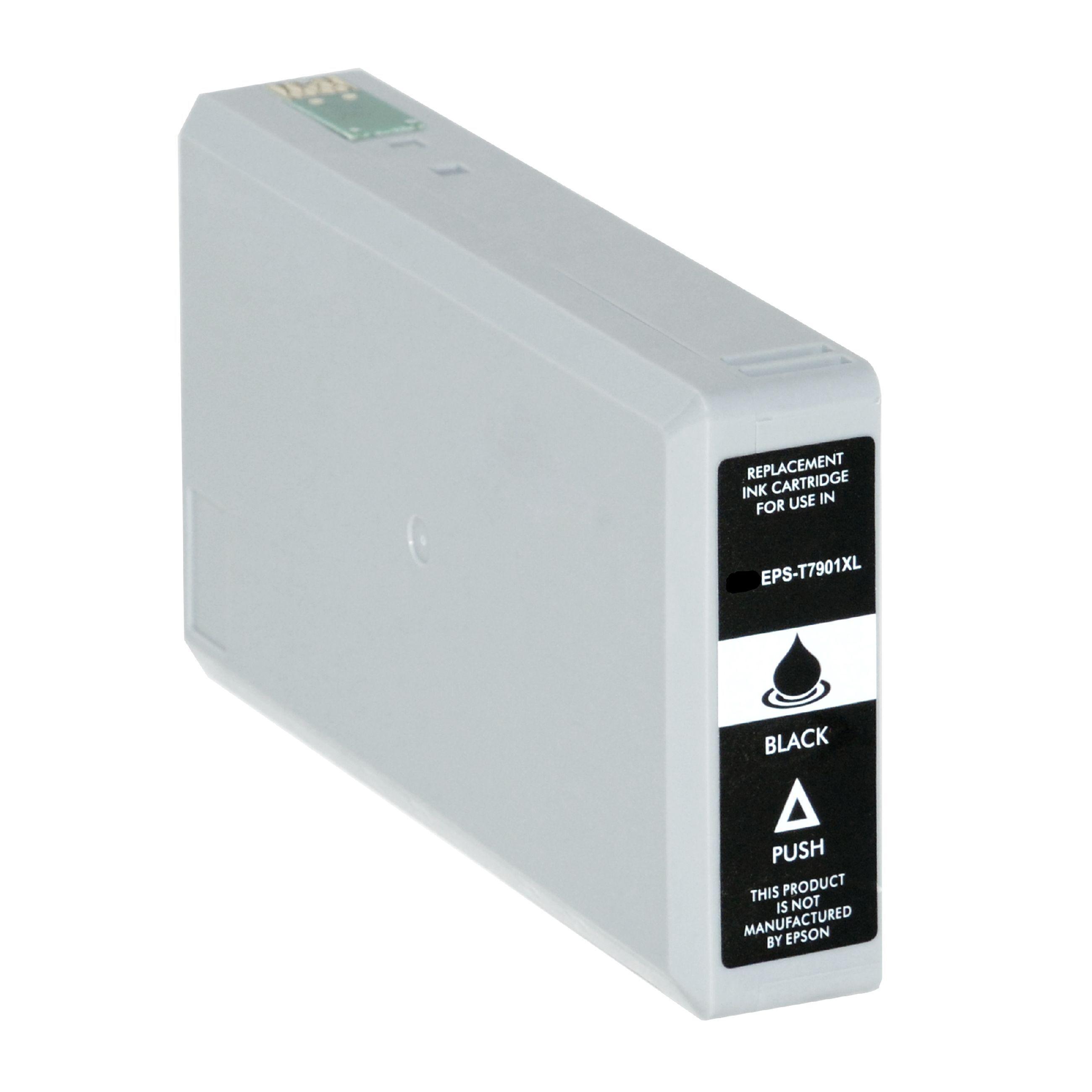 Epson Cartouche d'encre pour Epson C13T79014010 / 79XL noir compatible (de marque ASC)