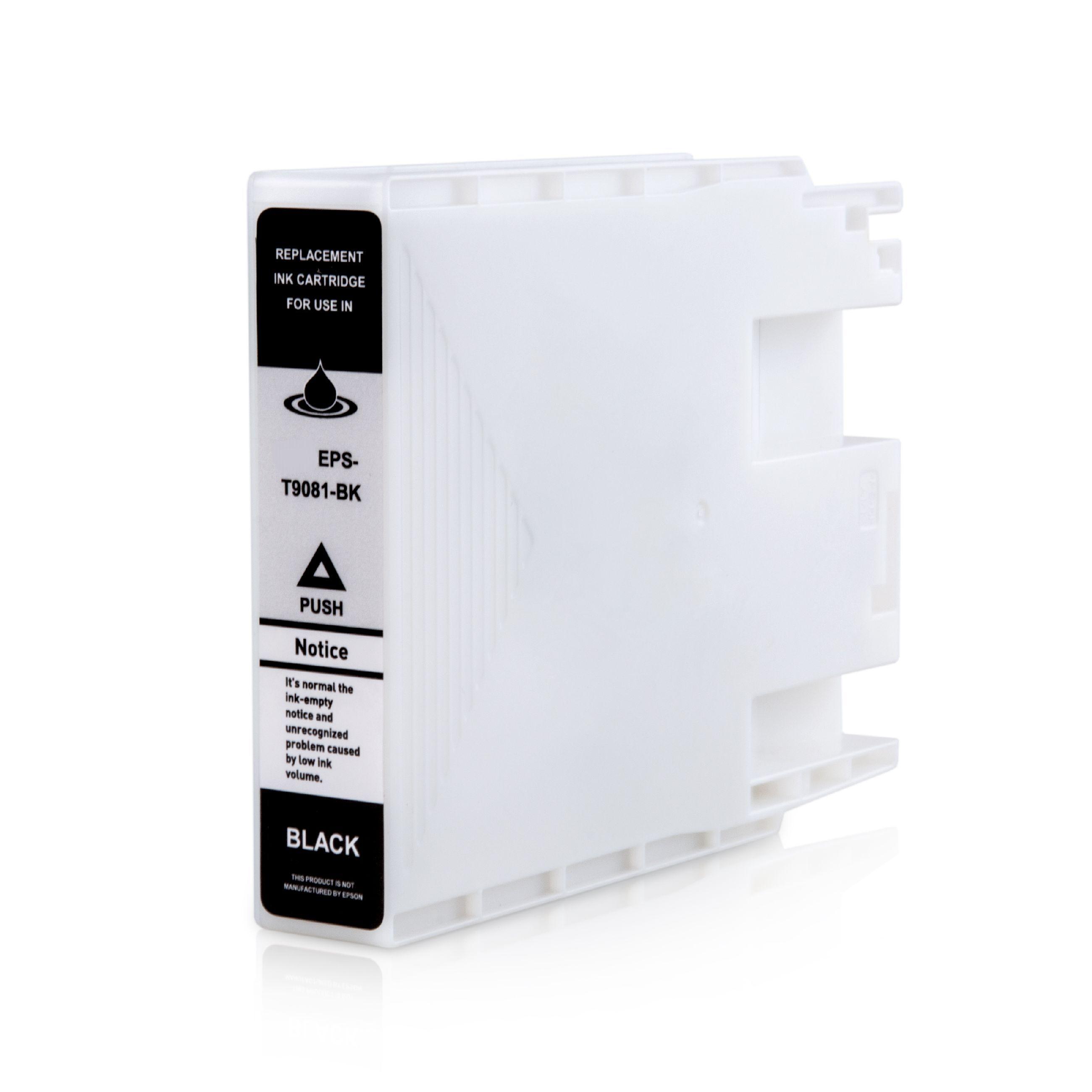 Epson Cartouche d'encre pour Epson C13T908140 / T9081 noir compatible (de marque ASC)