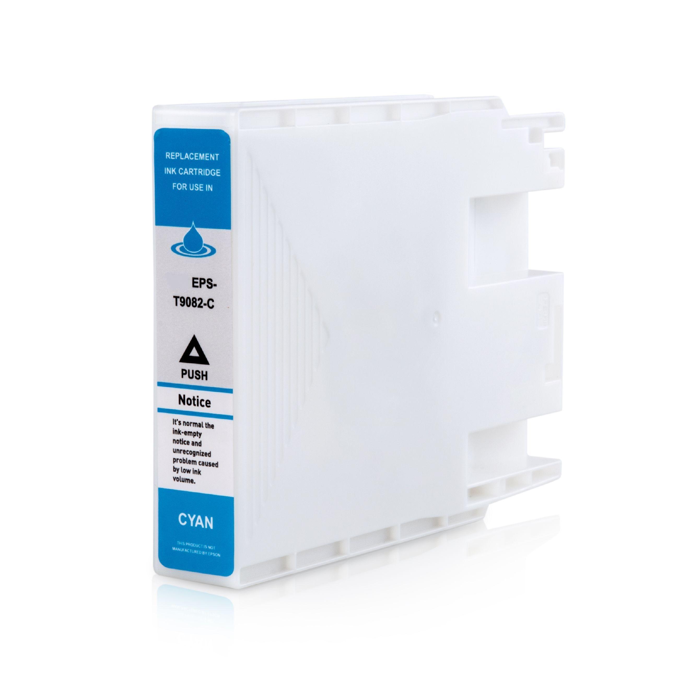Epson Cartouche d'encre pour Epson C13T908240 / T9082 cyan compatible (de marque ASC)