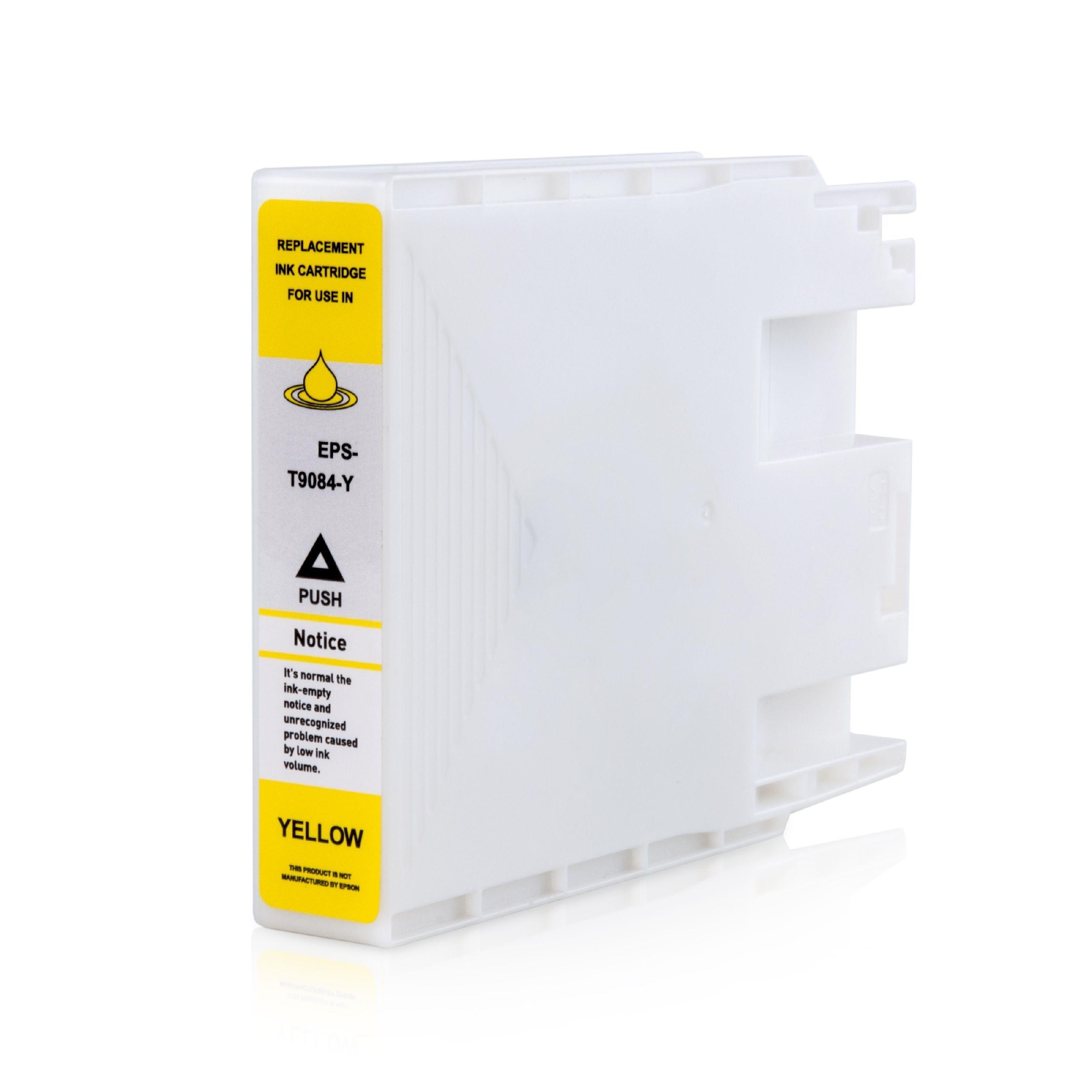 Epson Cartouche d'encre pour Epson C13T908440 / T9084 jaune compatible (de marque ASC)