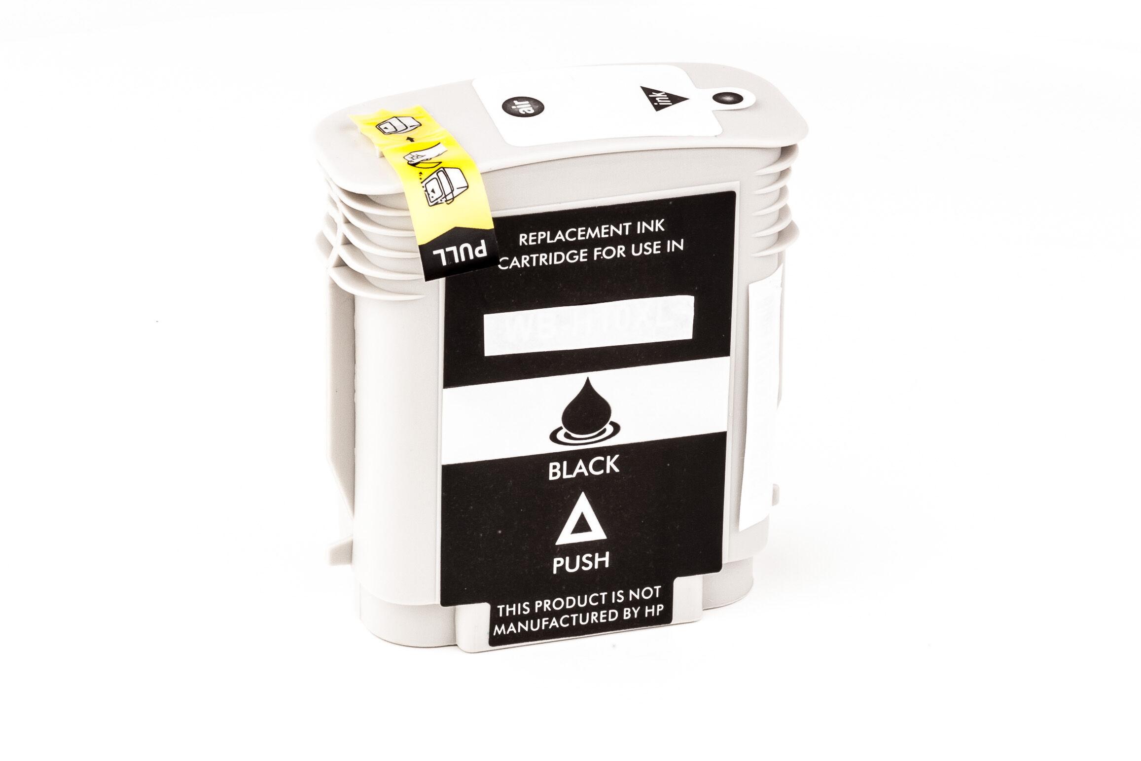HP Cartouche d'encre pour HP C4844AE / 10 noir compatible (de marque ASC)