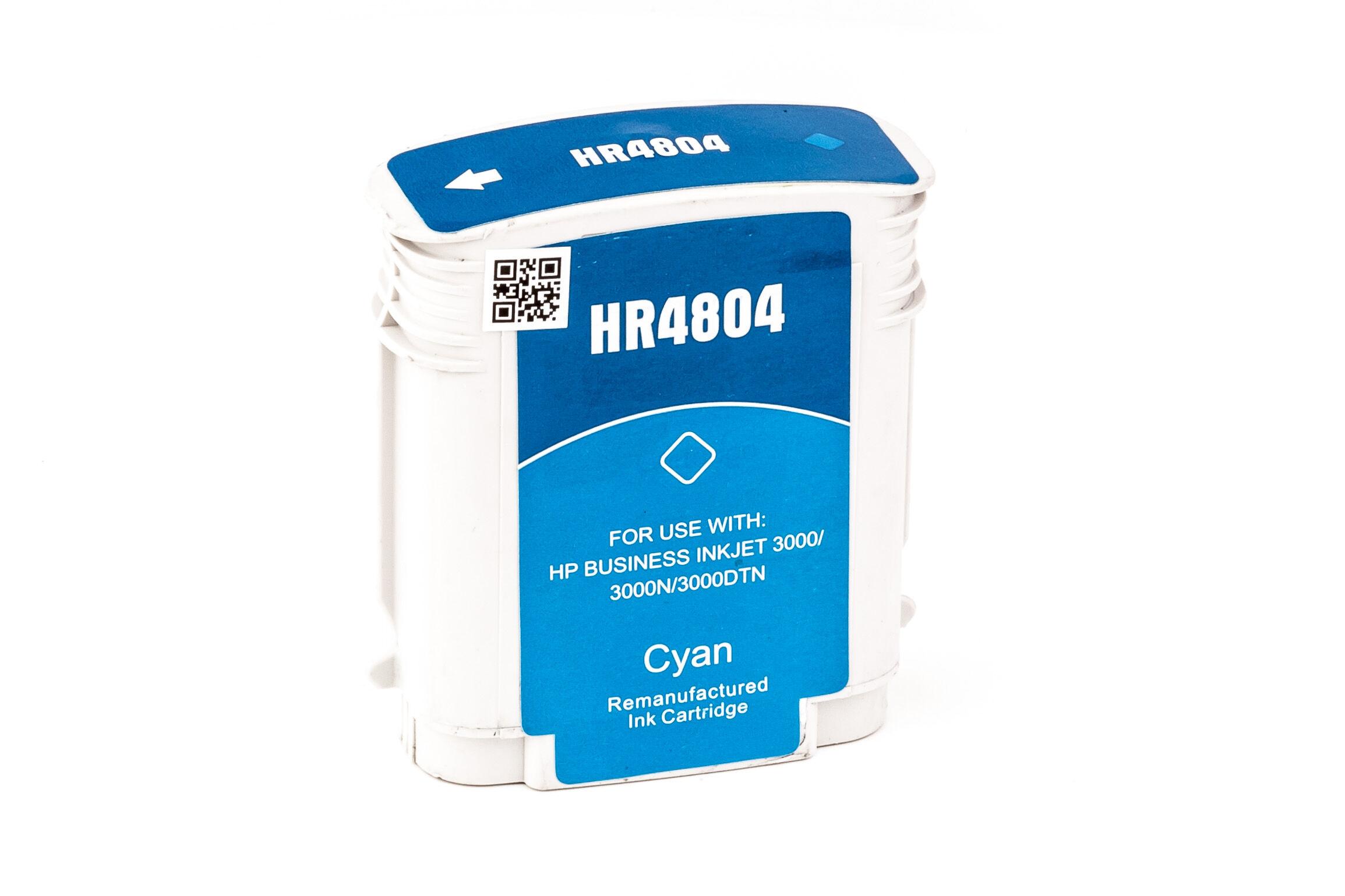 HP Cartouche d'encre pour HP C4804A / 12 cyan compatible (de marque ASC)
