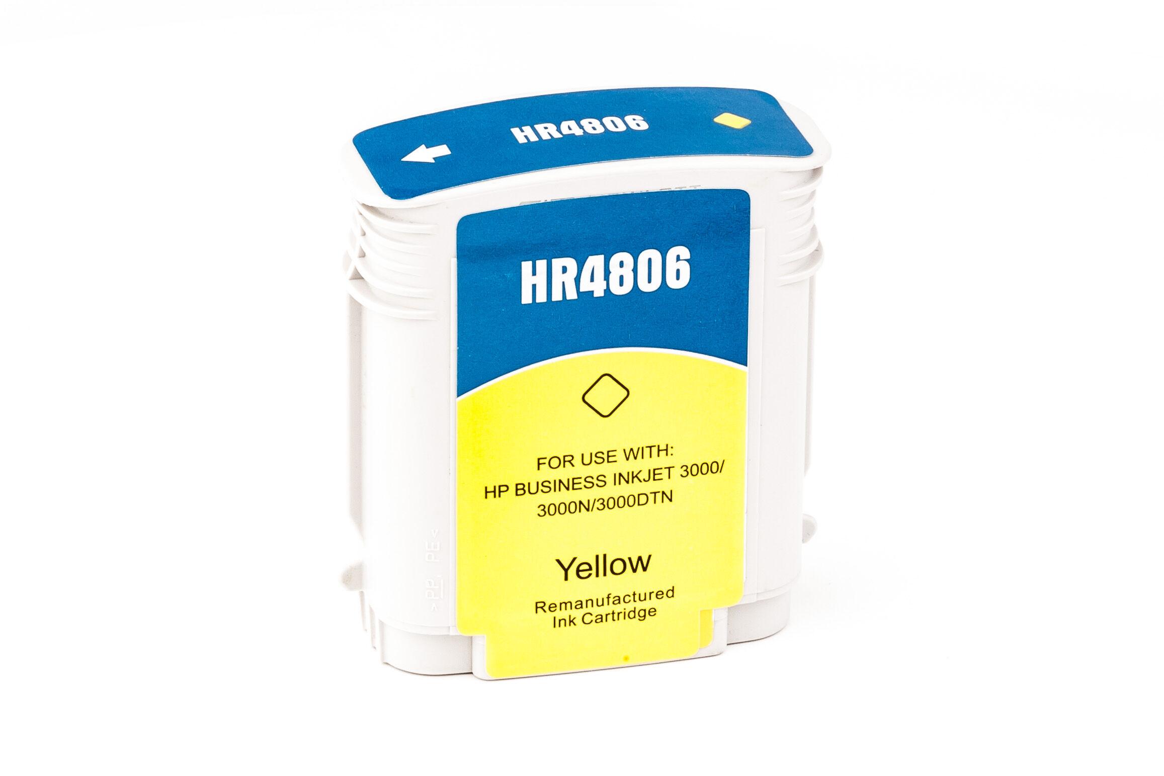 HP Cartouche d'encre pour HP C4806A / 12 jaune compatible (de marque ASC)