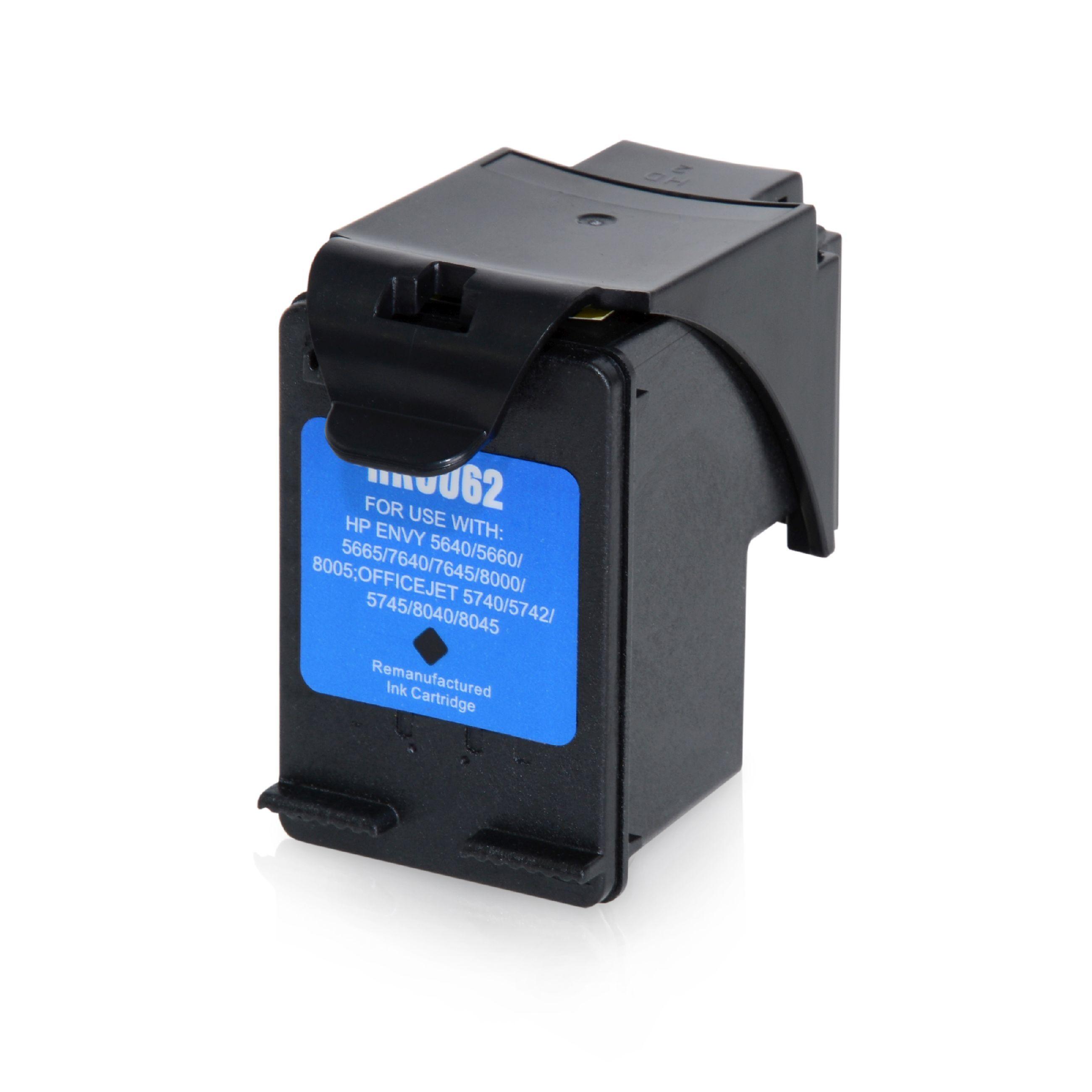 HP Cartouche d'encre pour HP C2P05AE / 62XL noir compatible (de marque ASC)