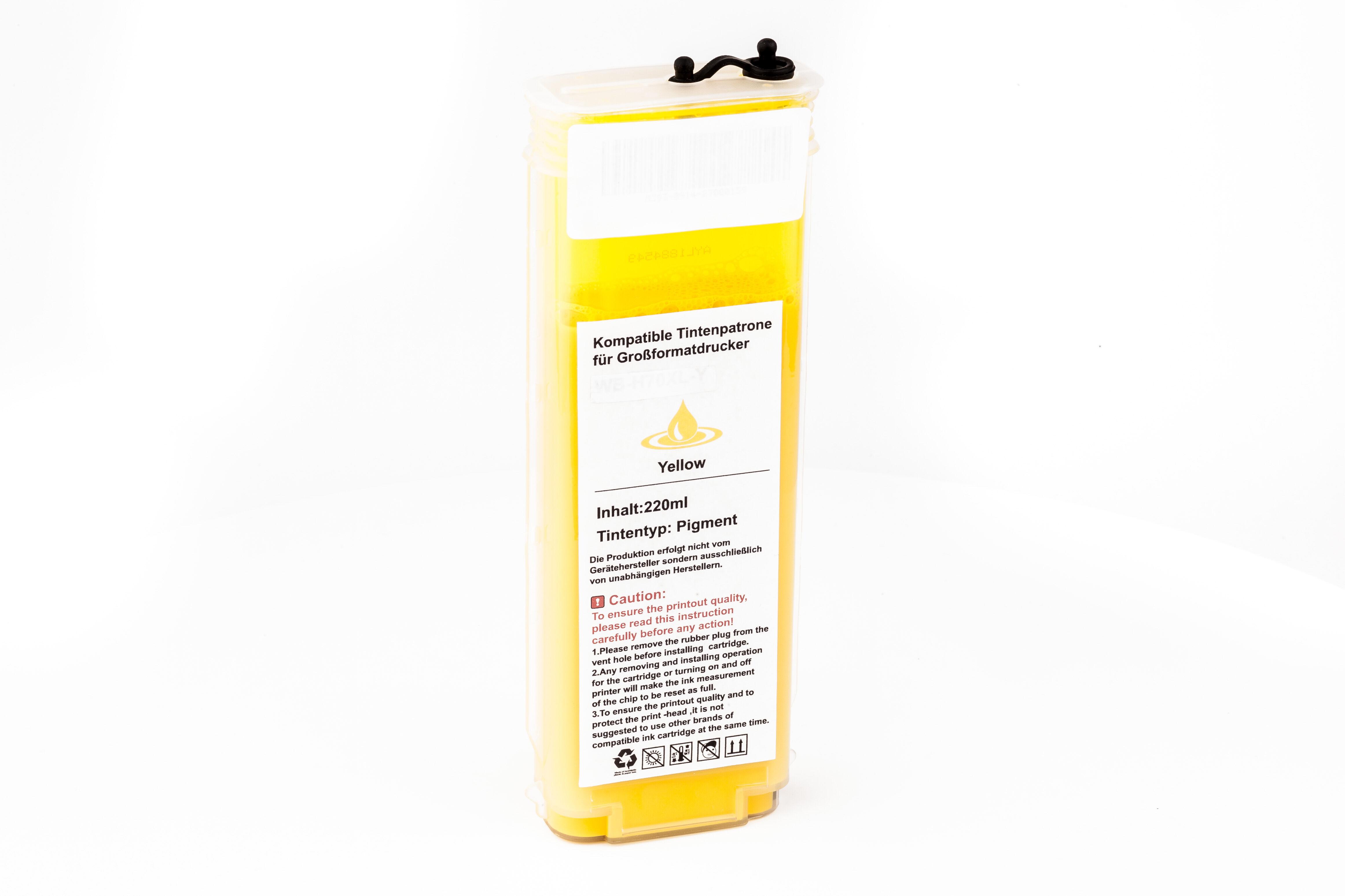 HP Cartouche d'encre pour HP C9454A / 70 jaune compatible (de marque ASC)