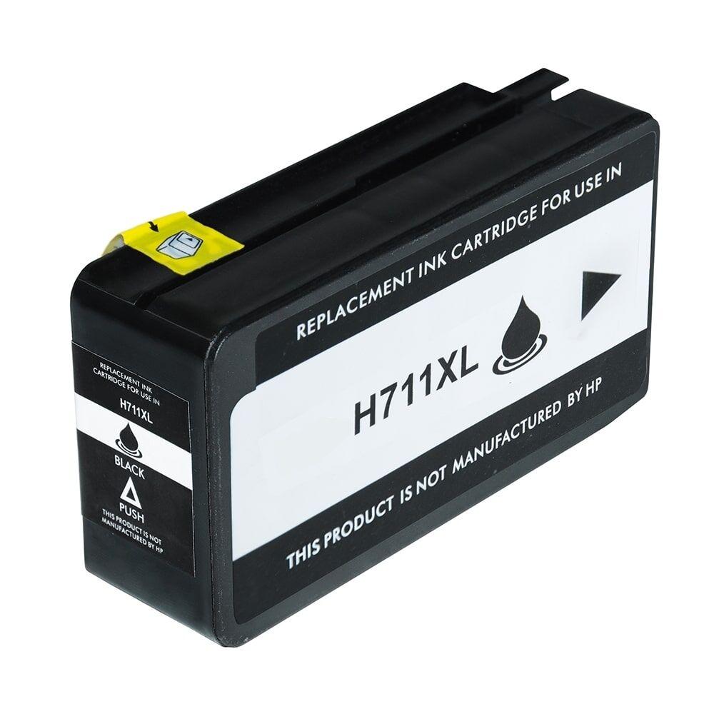 HP Cartouche d'encre pour HP CZ129A / 711 noir compatible (de marque ASC)