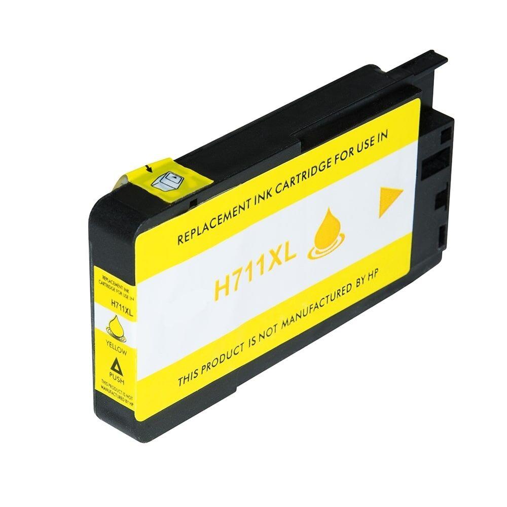 HP Cartouche d'encre pour HP CZ132A / 711 jaune compatible (de marque ASC)