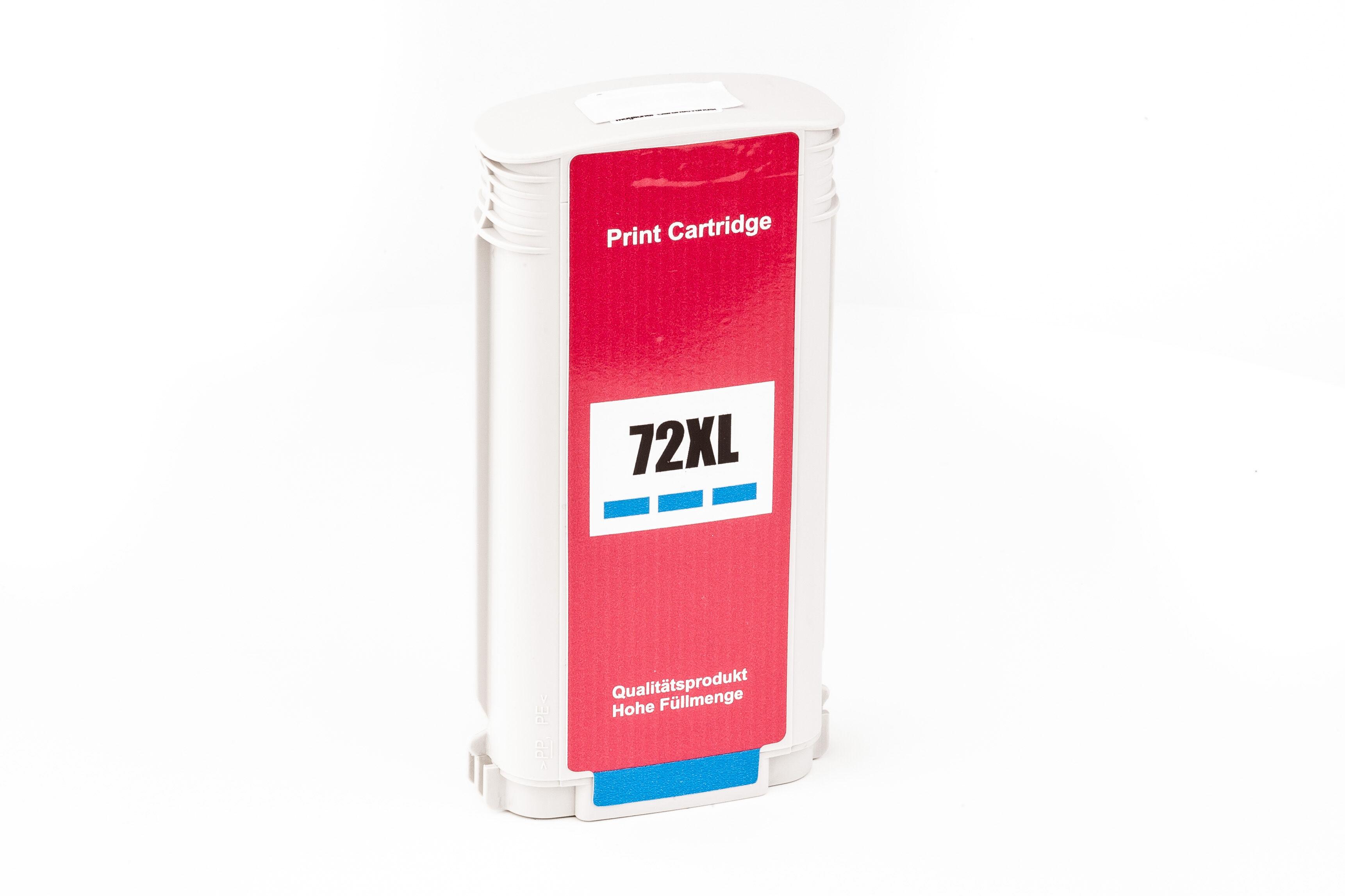 HP Cartouche d'encre pour HP C9371A / 72 cyan compatible (de marque ASC)