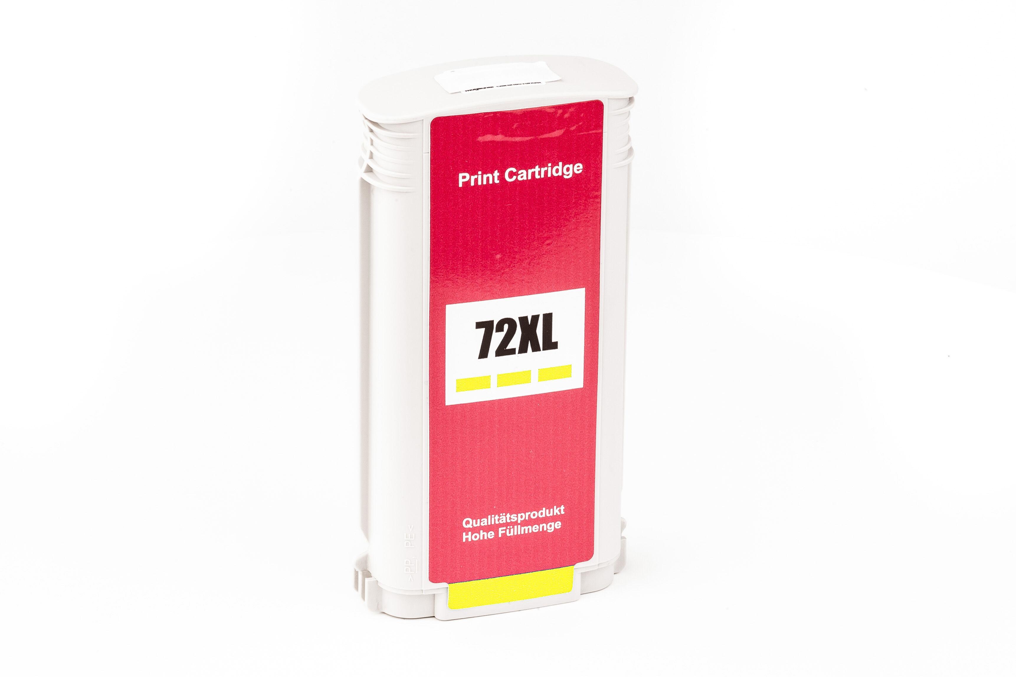 HP Cartouche d'encre pour HP C9373A / 72 jaune compatible (de marque ASC)