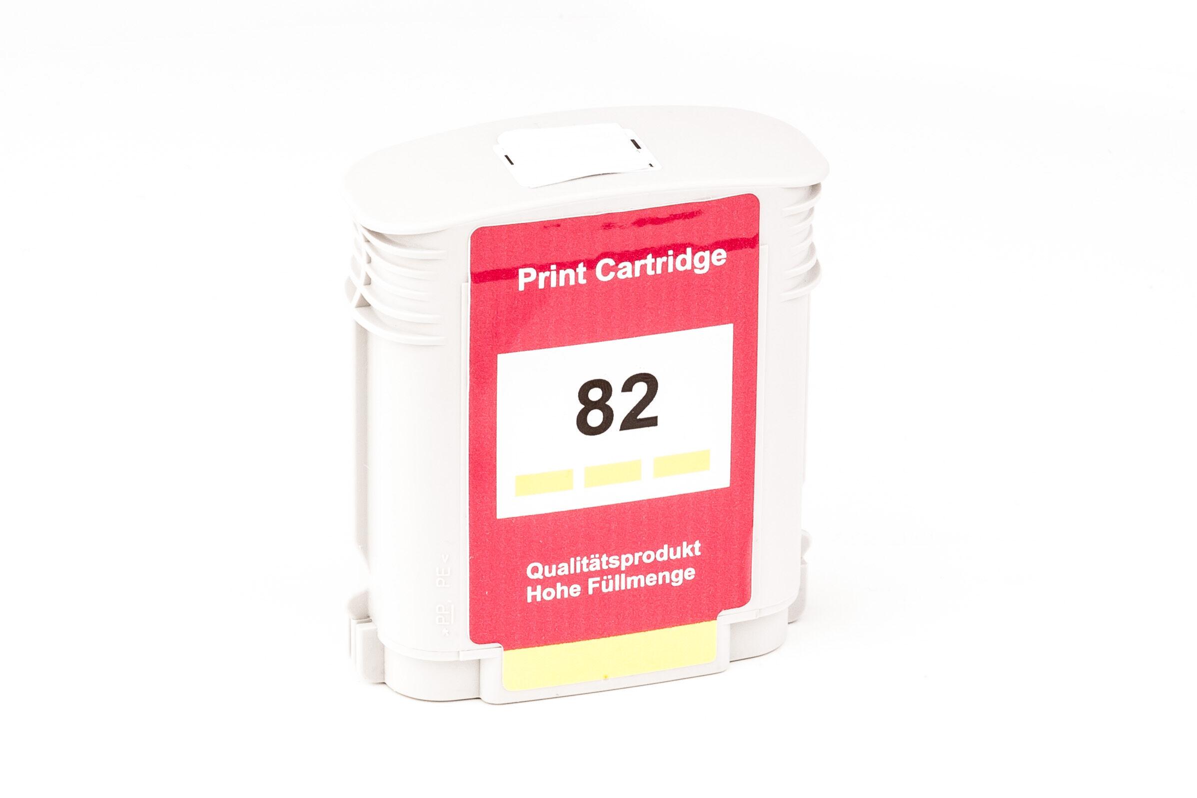 HP Cartouche d'encre pour HP C4913A / 82 jaune compatible (de marque ASC)