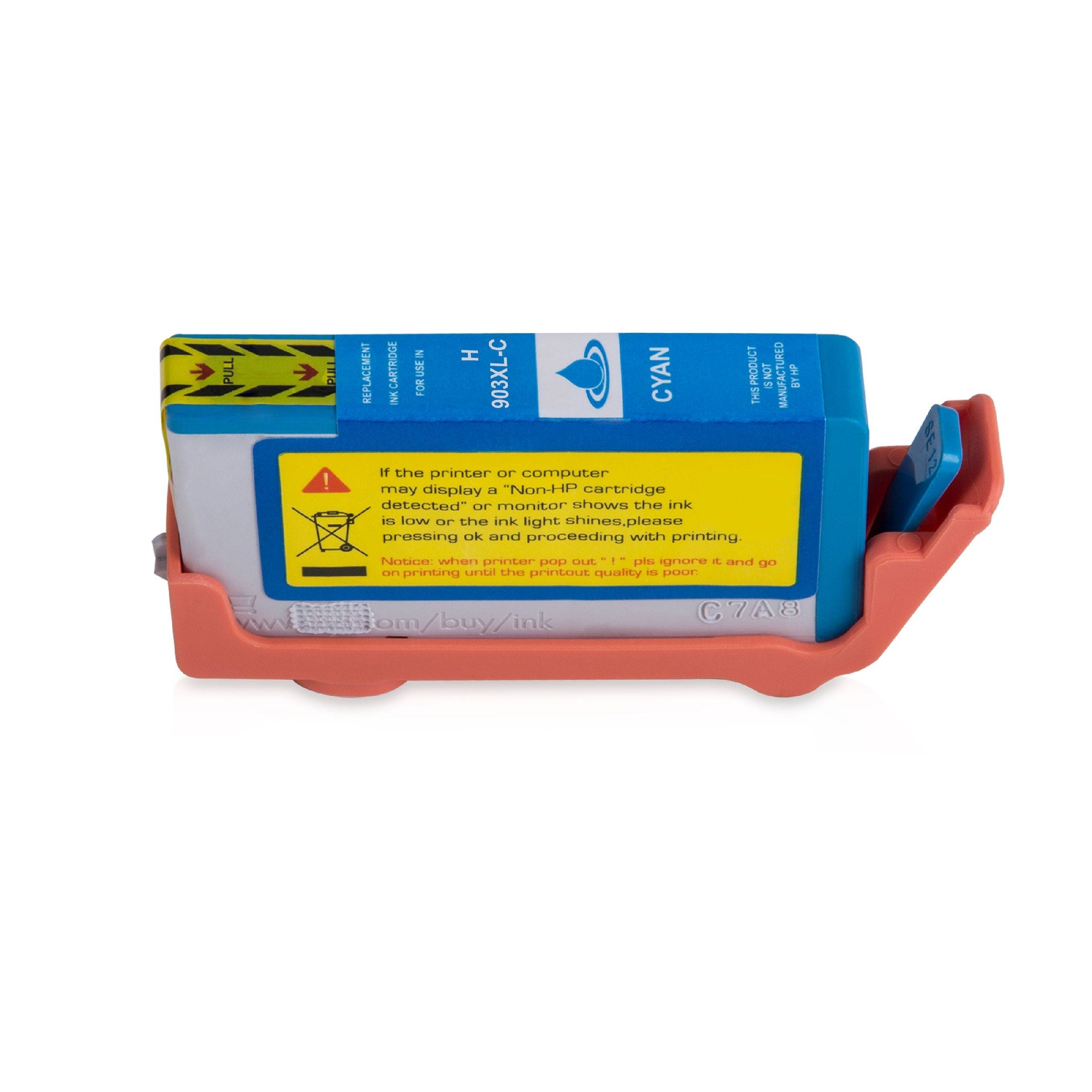 HP Cartouche d'encre pour HP T6M03AE / 903XL cyan compatible (de marque ASC)
