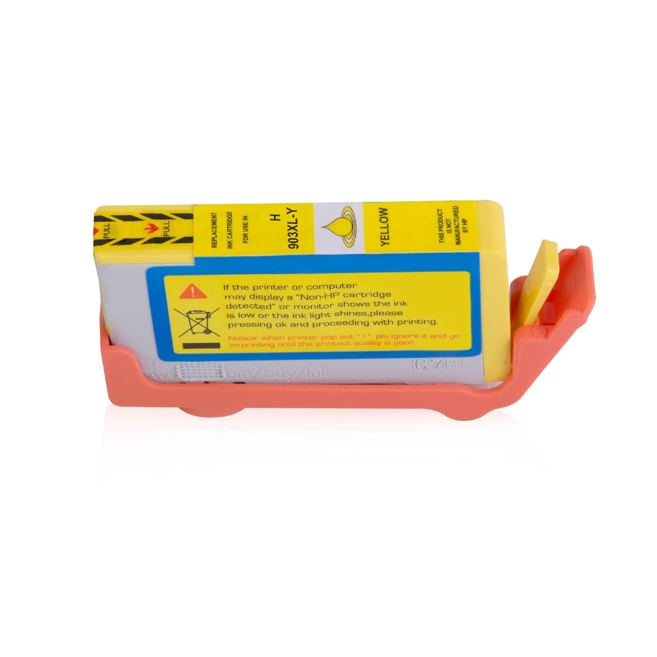 HP Cartouche d'encre pour HP T6M11AE / 903XL jaune compatible (de marque ASC)