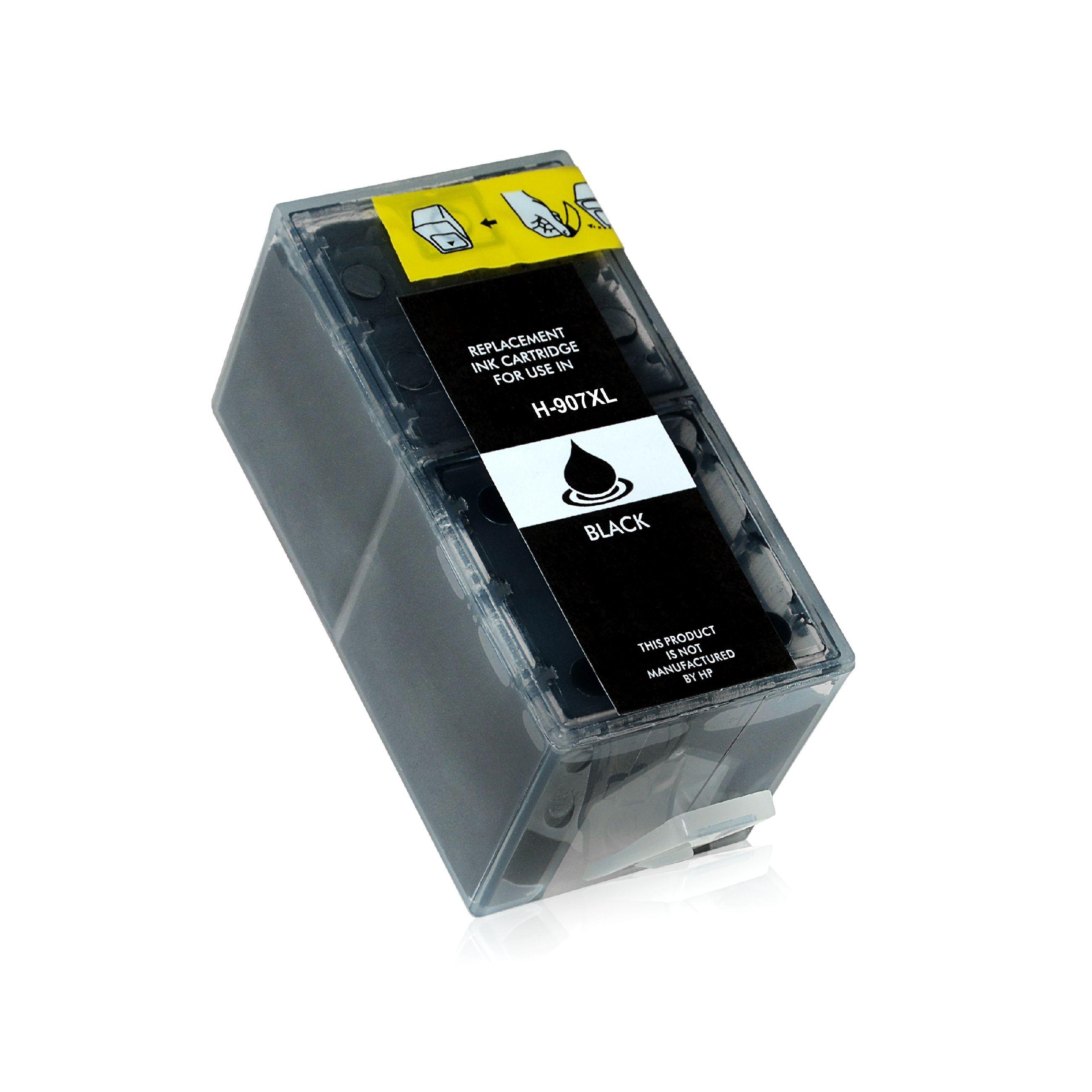 HP Cartouche d'encre pour HP T6M19AE / 907XL noir compatible (de marque ASC)
