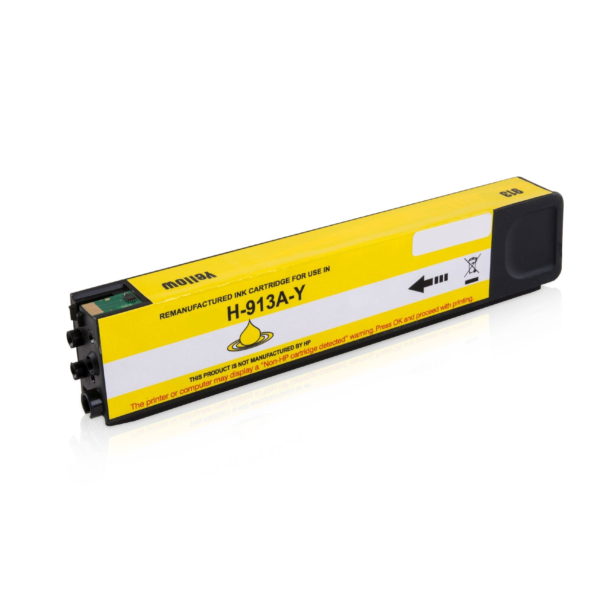 HP Cartouche d'encre pour HP F6T79AE / 913A jaune compatible (de marque ASC)