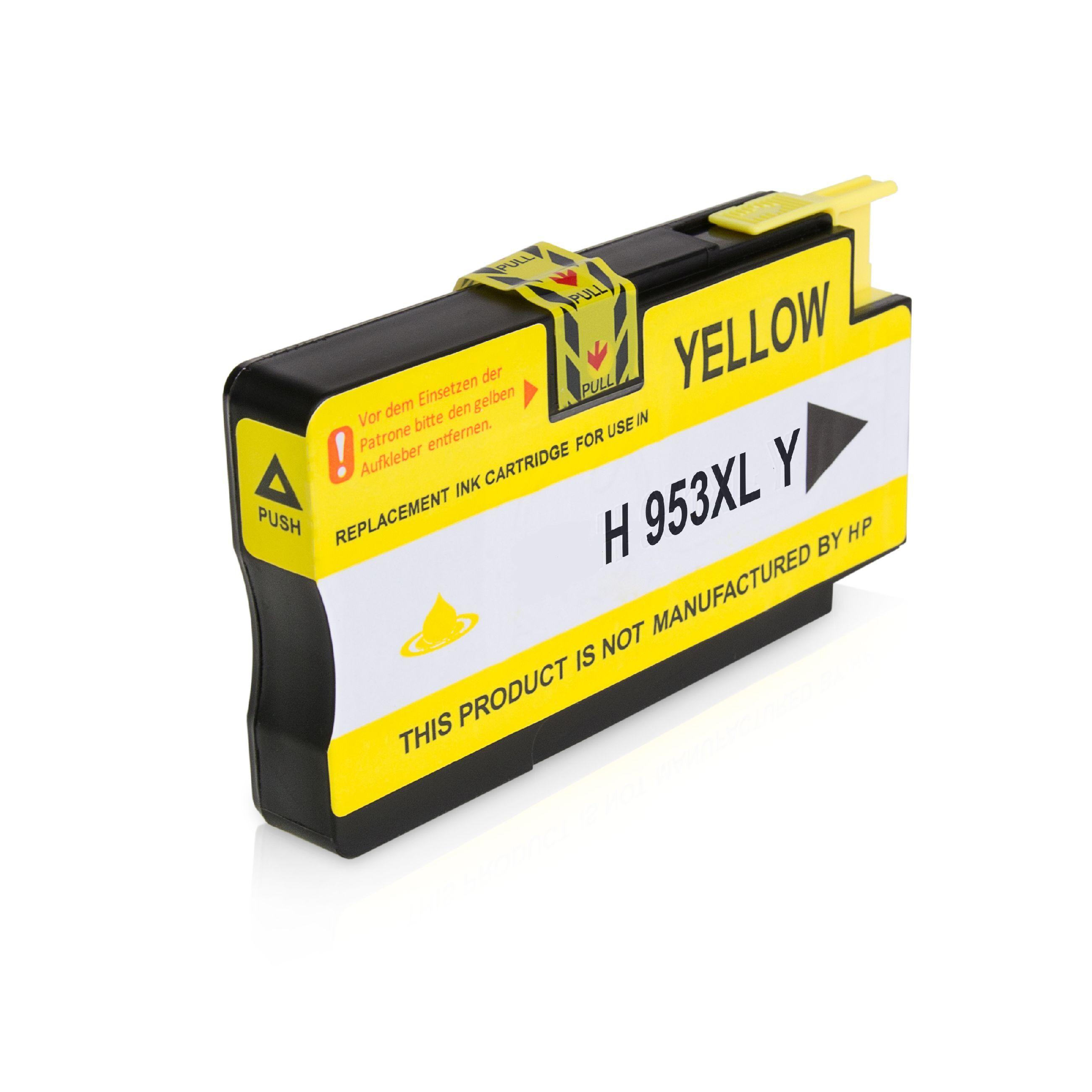 HP Cartouche d'encre pour HP F6U18AE / 953XL jaune compatible (de marque ASC)