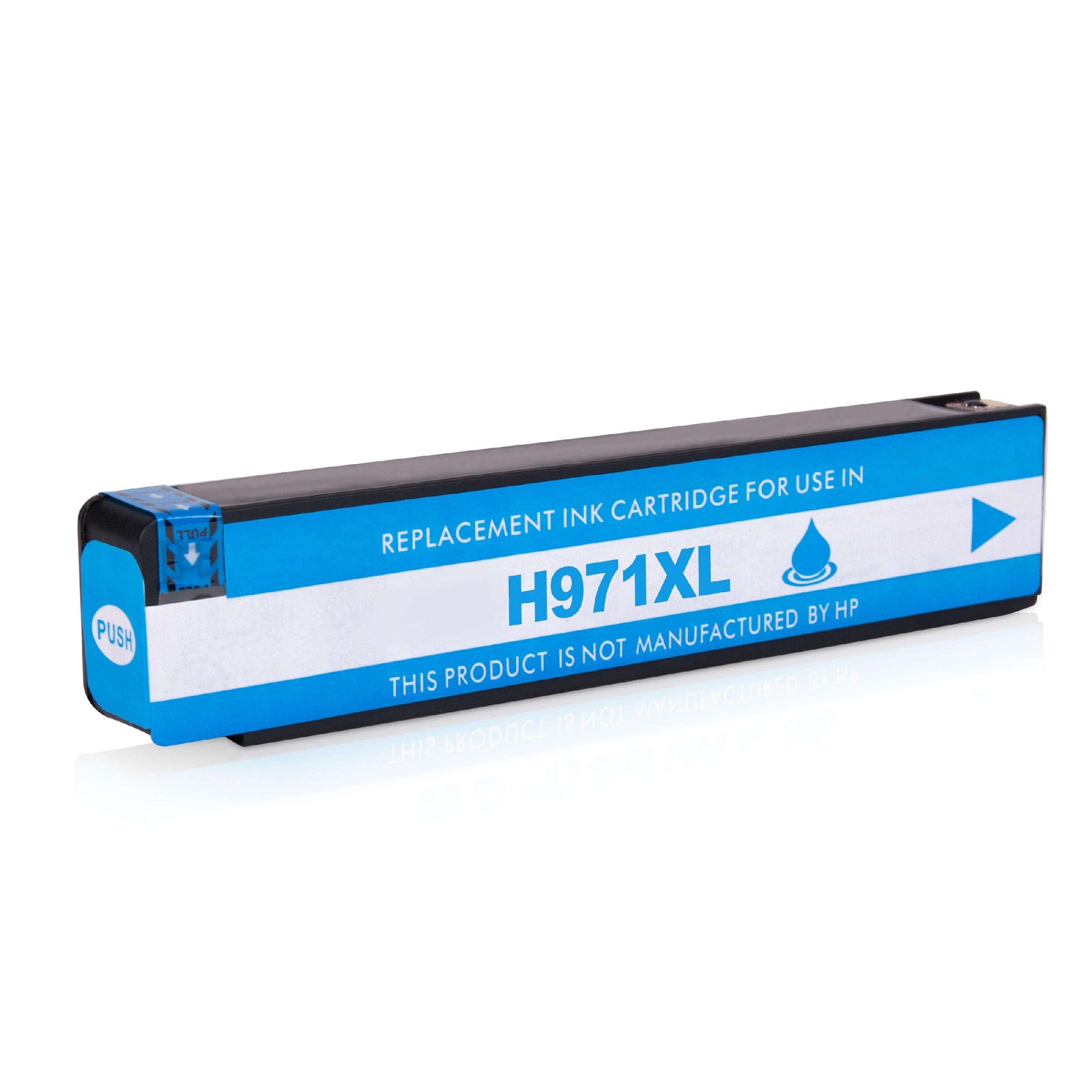 HP Cartouche d'encre pour HP CN626AE / 971XL cyan compatible (de marque ASC)