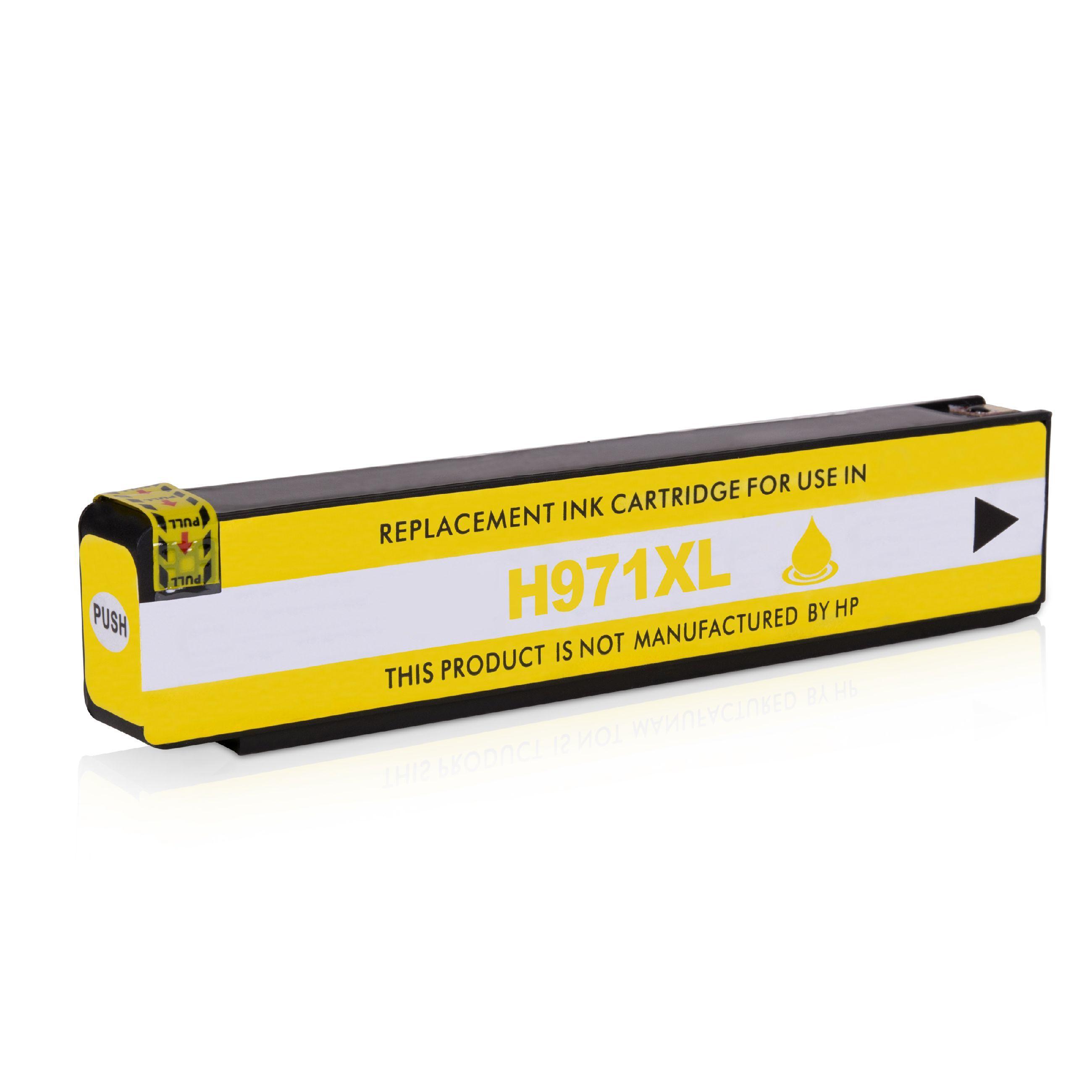 HP Cartouche d'encre pour HP CN628AE / 971XL jaune compatible (de marque ASC)