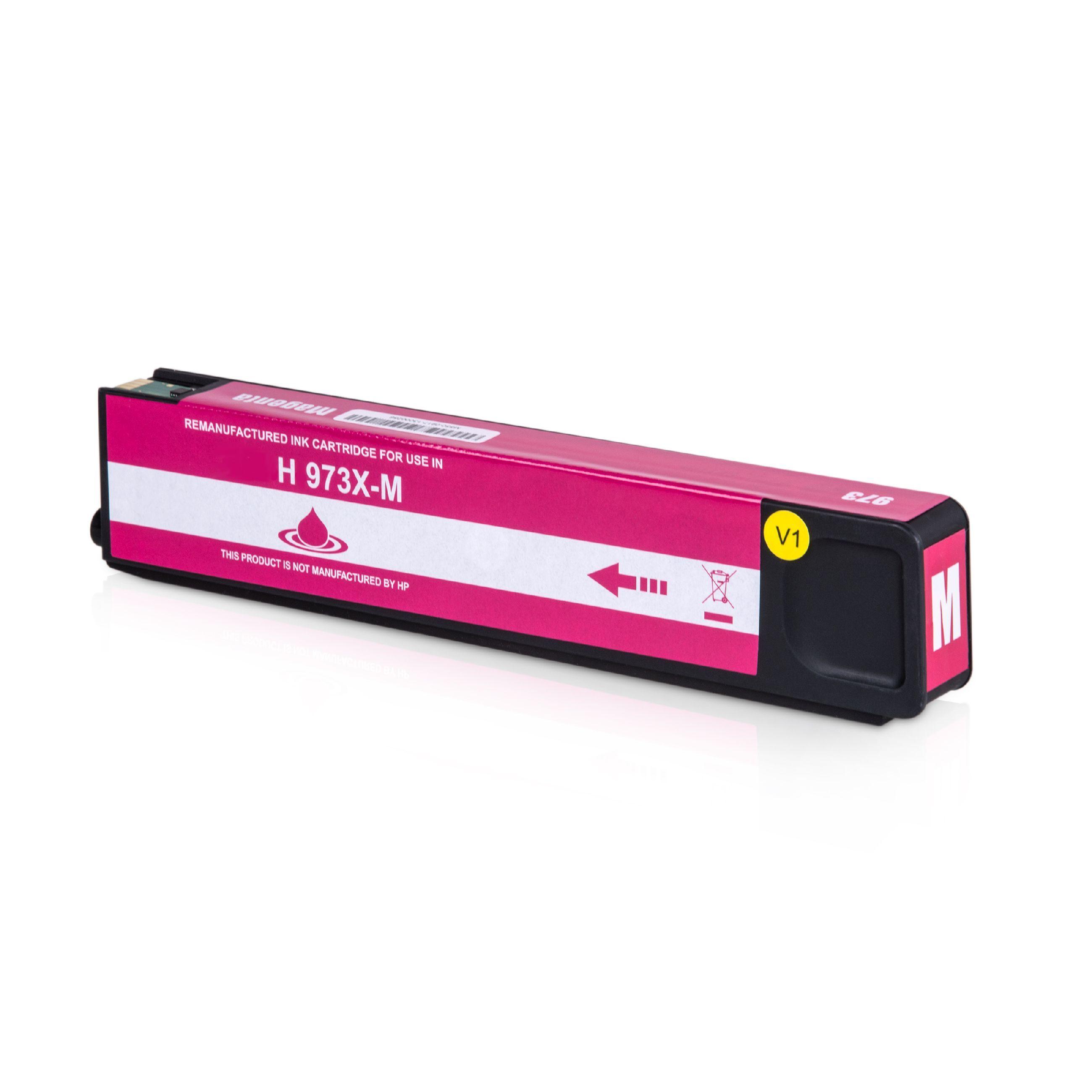 HP Cartouche d'encre pour HP F6T82AE / 973X magenta compatible (de marque ASC)