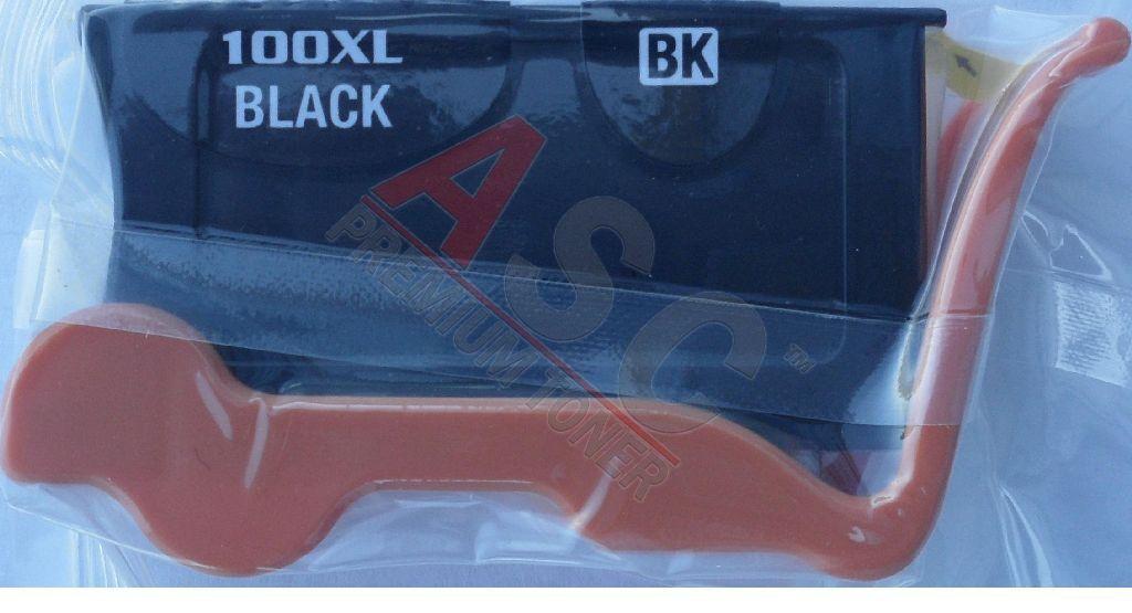 Lexmark Cartouche d'encre pour Lexmark 14N1092E / 100XLA noir compatible (de marque ASC)