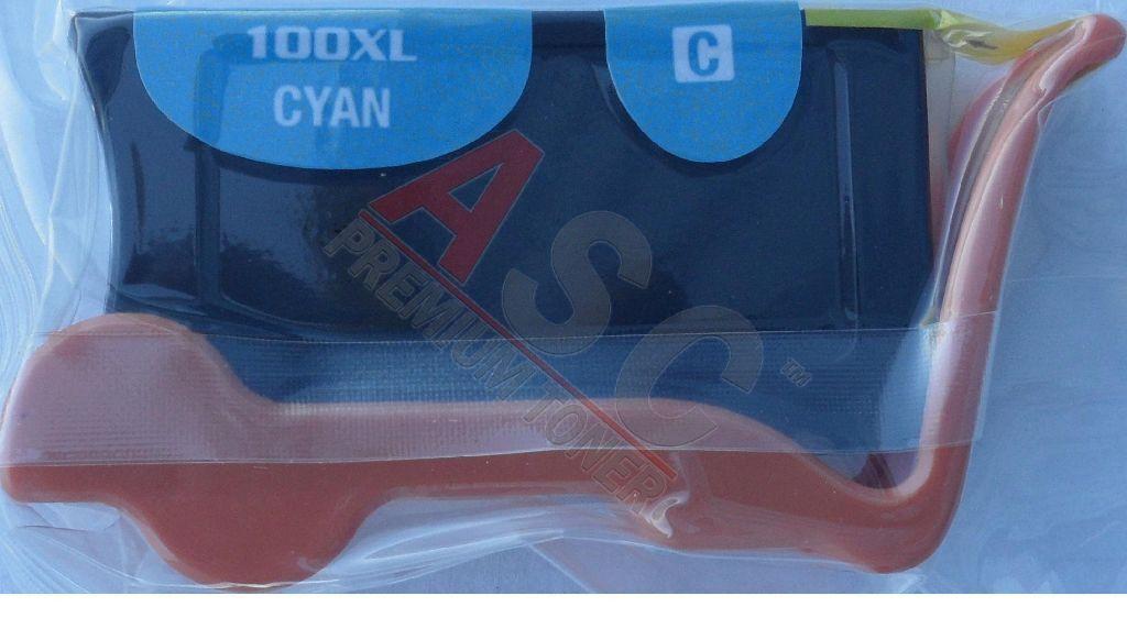 Lexmark Cartouche d'encre pour Lexmark 14N1093E / 100XLA cyan compatible (de marque ASC)