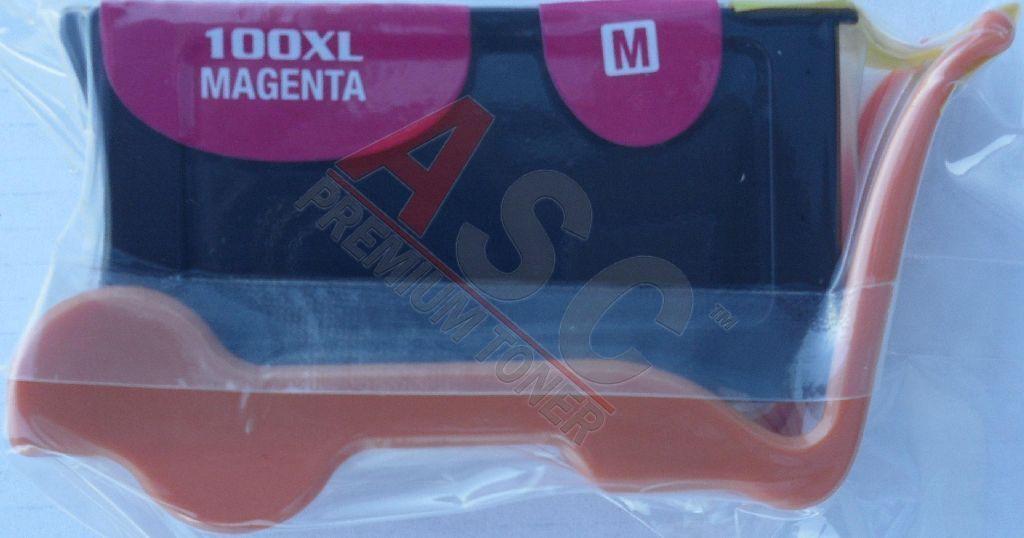Lexmark Cartouche d'encre pour Lexmark 14N1094E / 100XLA magenta compatible (de marque ASC)