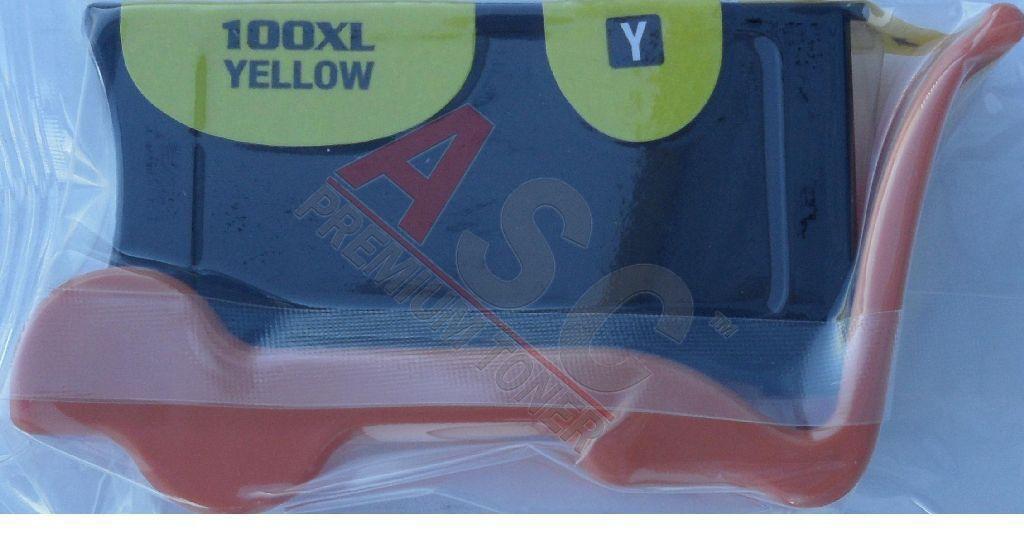 Lexmark Cartouche d'encre pour Lexmark 14N1095E / 100XLA jaune compatible (de marque ASC)