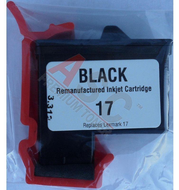 Lexmark Cartouche d'encre pour Lexmark 10N0217E / 17 noir compatible (de marque ASC)