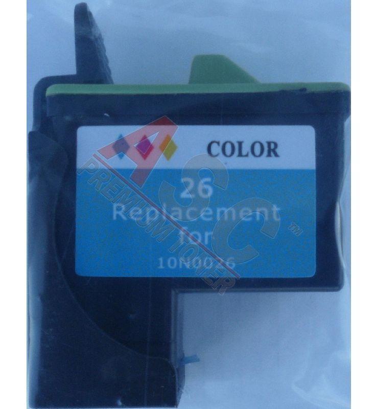 Lexmark Cartouche d'encre pour Lexmark 10N0026E / 26 Couleur compatible (de marque ASC)