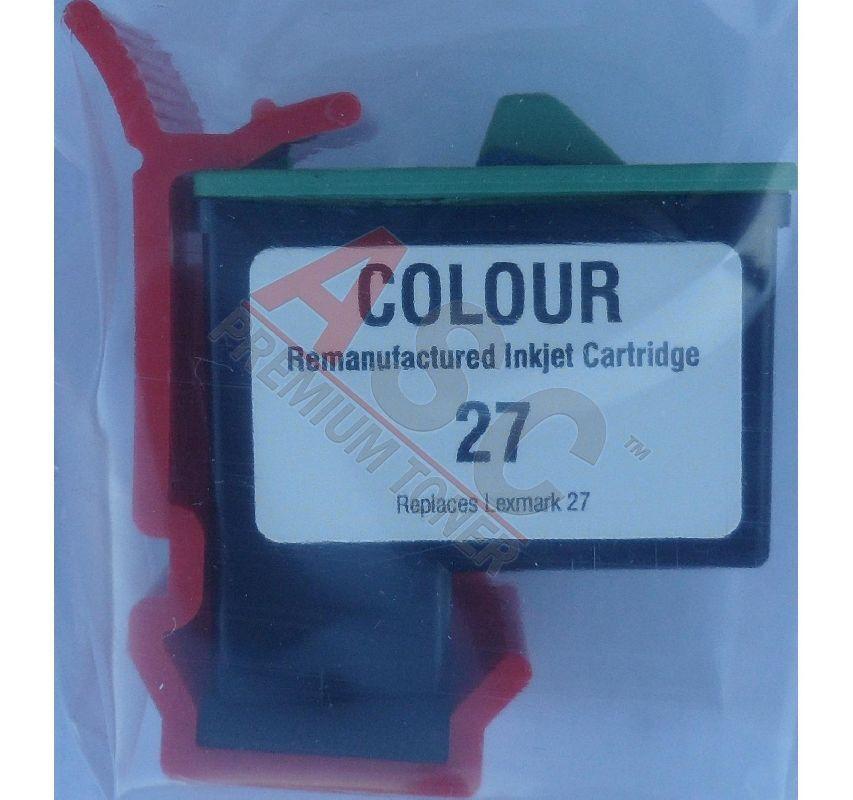 Lexmark Cartouche d'encre pour Lexmark 10N0227E / 27 Couleur compatible (de marque ASC)