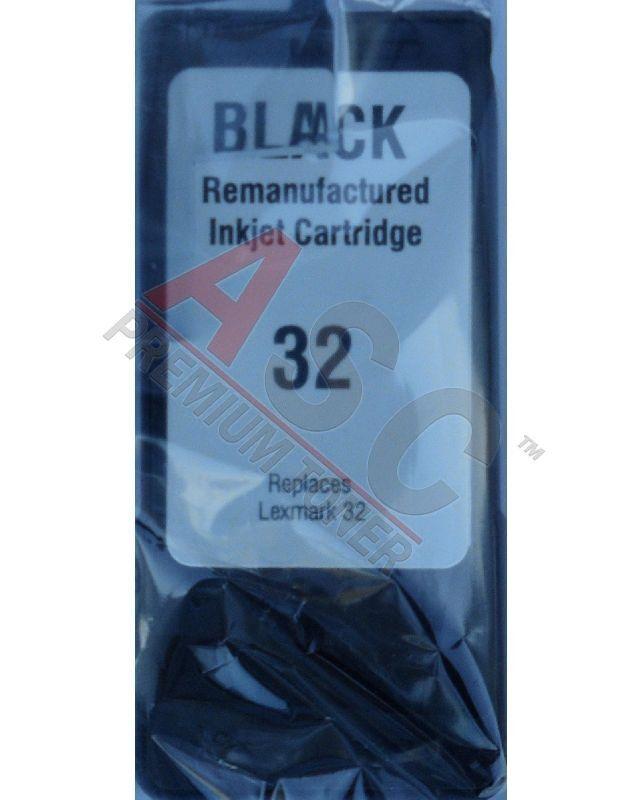 Lexmark Cartouche d'encre pour Lexmark 18C0032E / 32 noir compatible (de marque ASC)