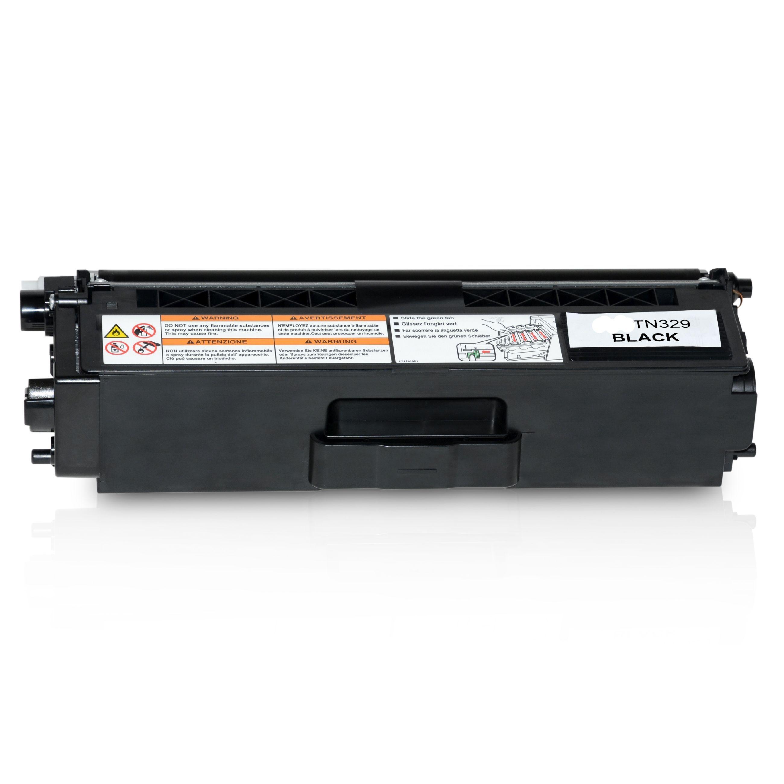BROTHER Cartouche de Toner pour BROTHER TN329BK noir compatible (de marque ASC)